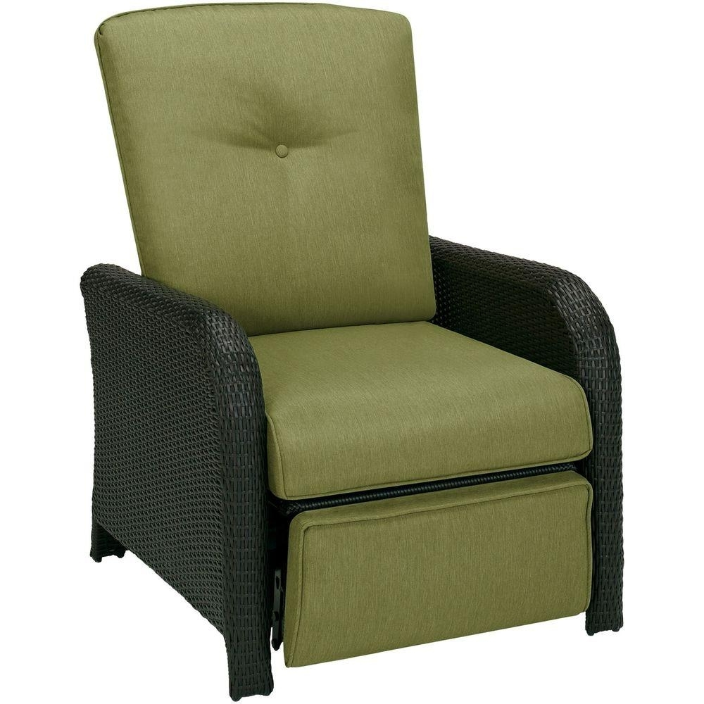 Hanover Strathmere 1 Piece Outdoor Reclining Patio Lounge Chair For Fashionable Chaise Lounge Chairs For Sunroom (View 12 of 15)
