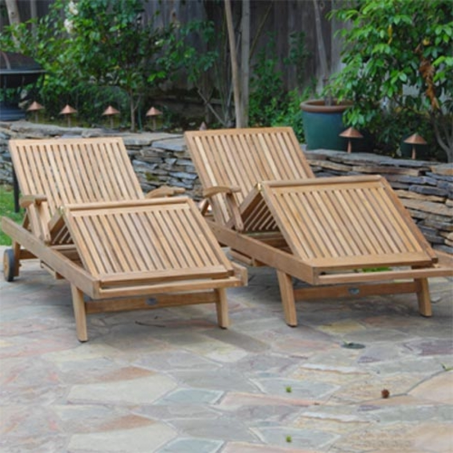 Hardwood Chaise Lounge Chairs Pertaining To Current Outdoor Sun Chaise Lounger – Liberty Lounge Chair (View 4 of 15)