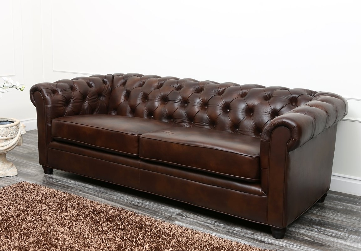 Harlem Leather Chesterfield Sofa & Reviews (View 7 of 15)