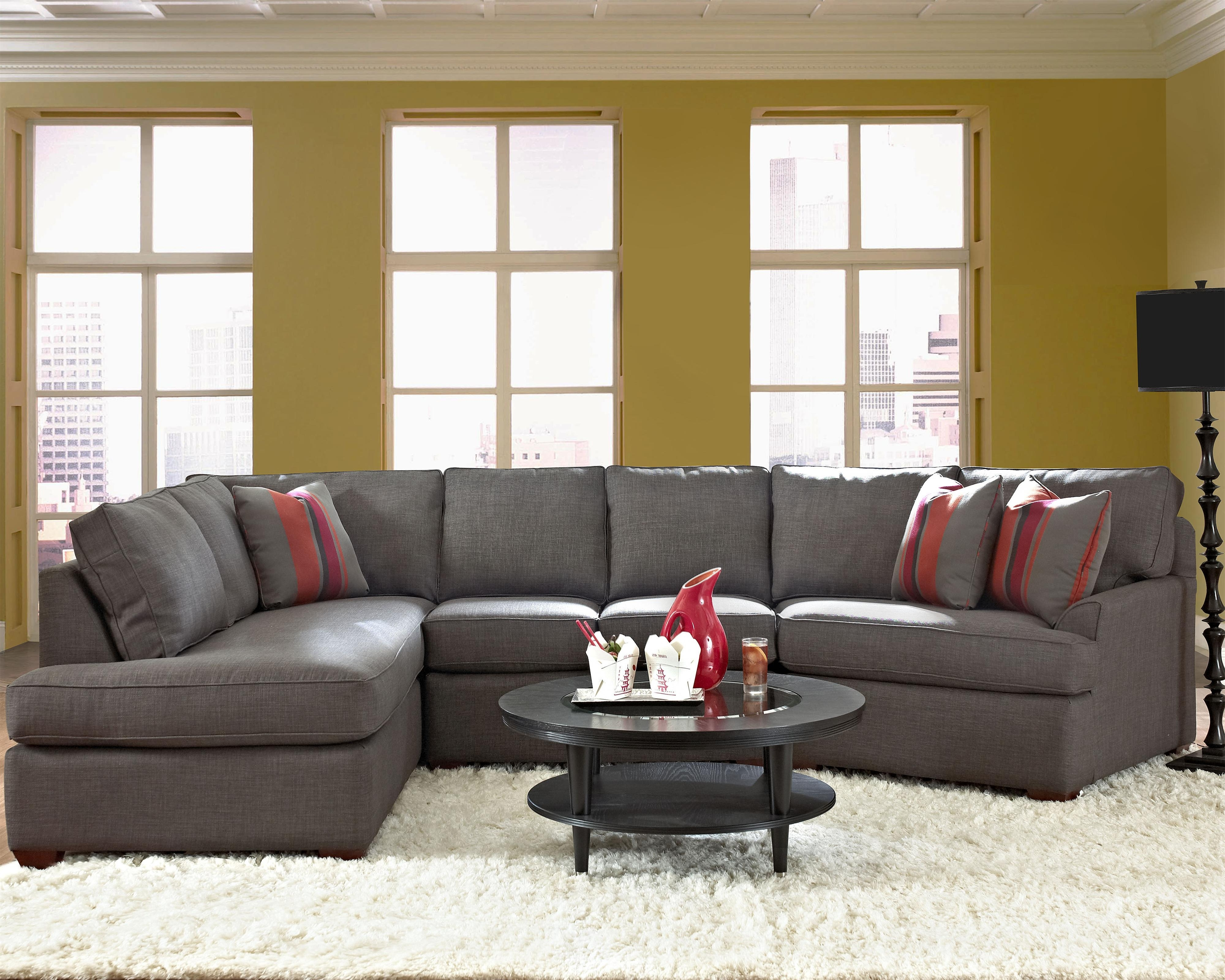 Harrisburg Pa Sectional Sofas Throughout Latest Klaussner Grady Contemporary Sectional Sofa With Right Chaise (View 5 of 15)