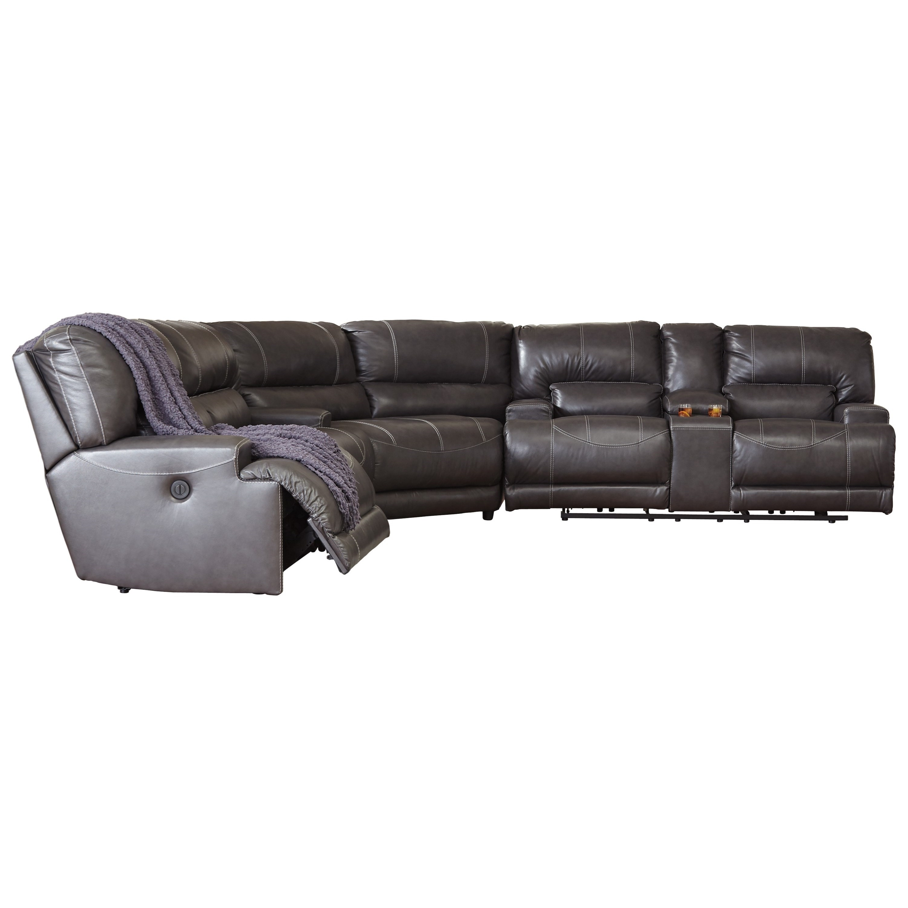 Hattiesburg Ms Sectional Sofas Regarding Most Recently Released Signature Designashley Mccaskill Contemporary 3 Piece Leather (View 5 of 15)