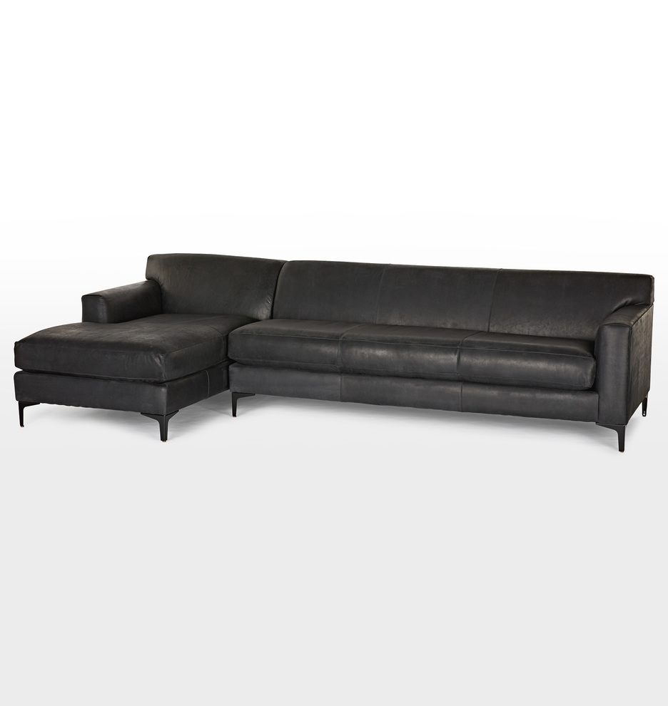 Hawthorne Leather Sectional Sofa – Chaise Right (View 2 of 15)