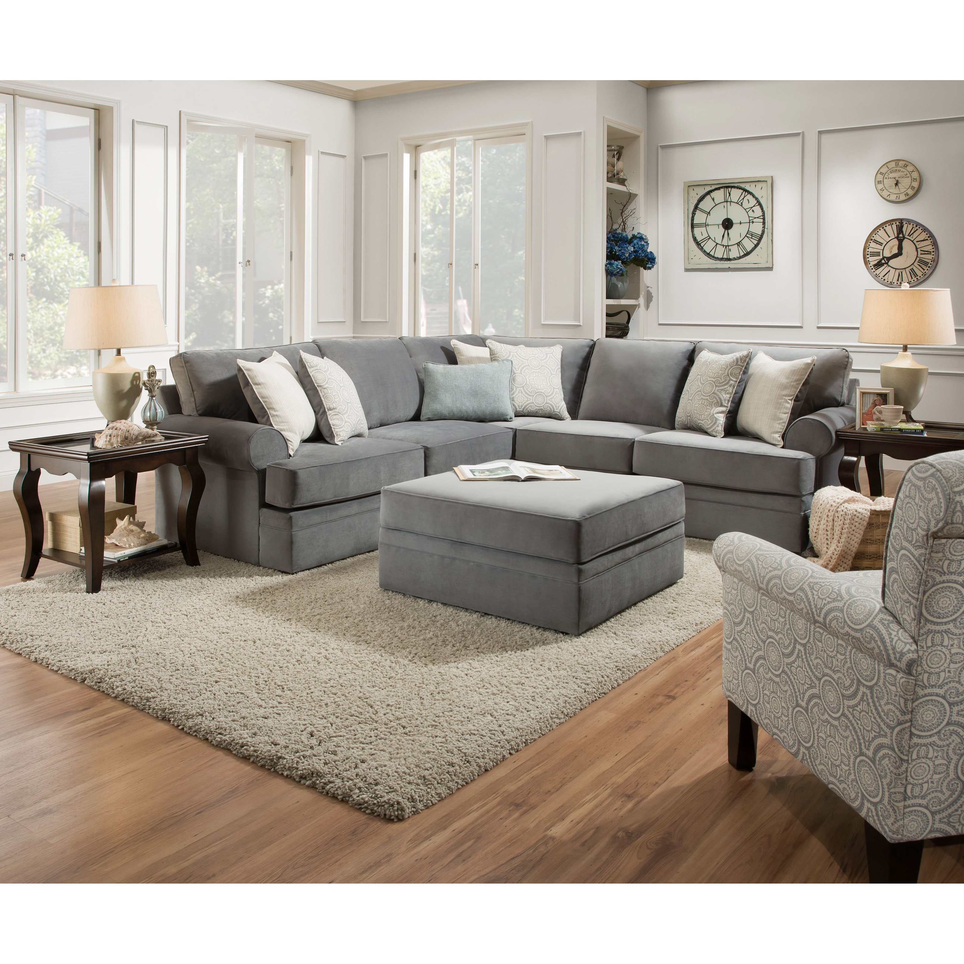 Hayneedle Intended For Simmons Sectional Sofas (View 1 of 15)