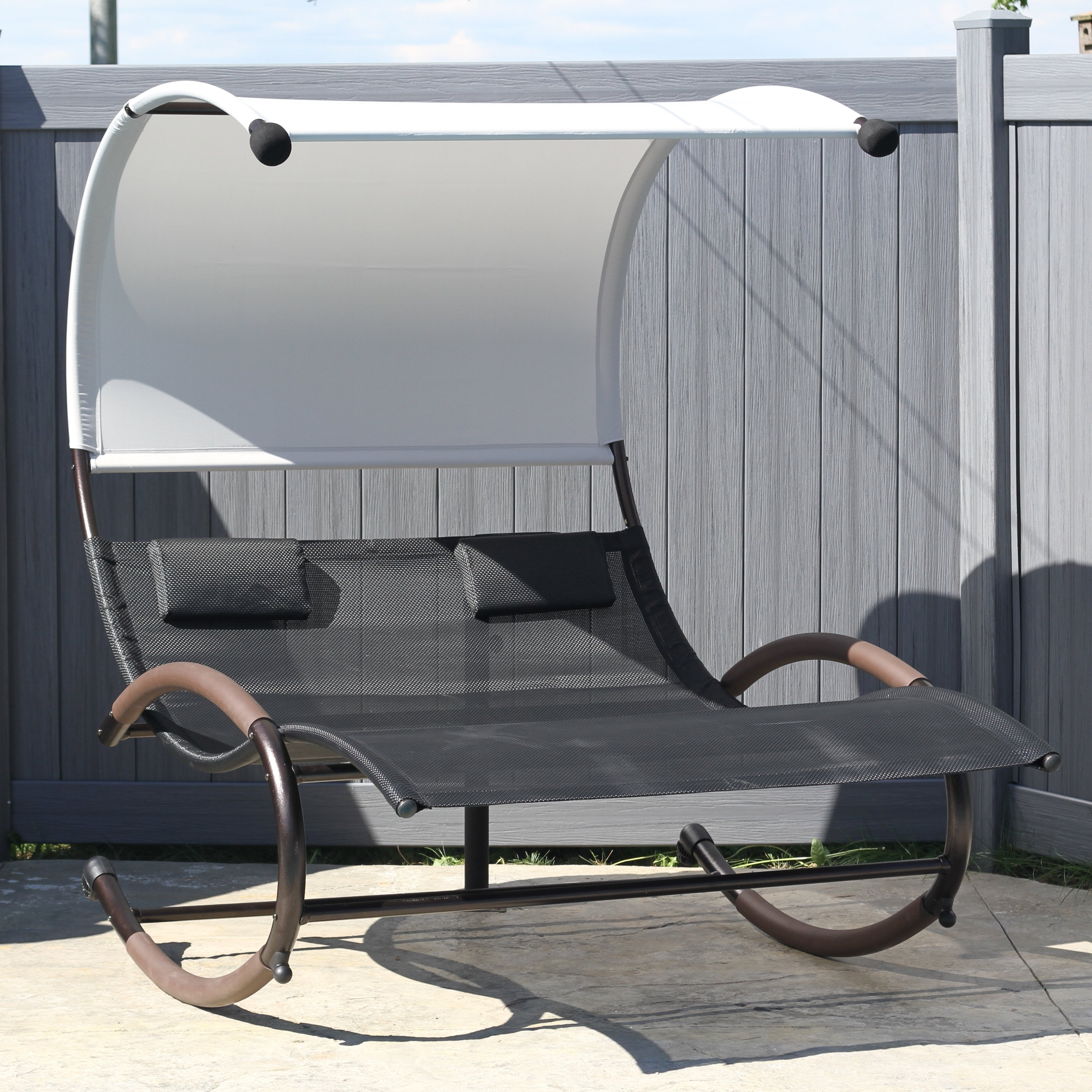 Hayneedle Pertaining To Most Up To Date Chaise Lounge Chair With Canopy (View 4 of 15)