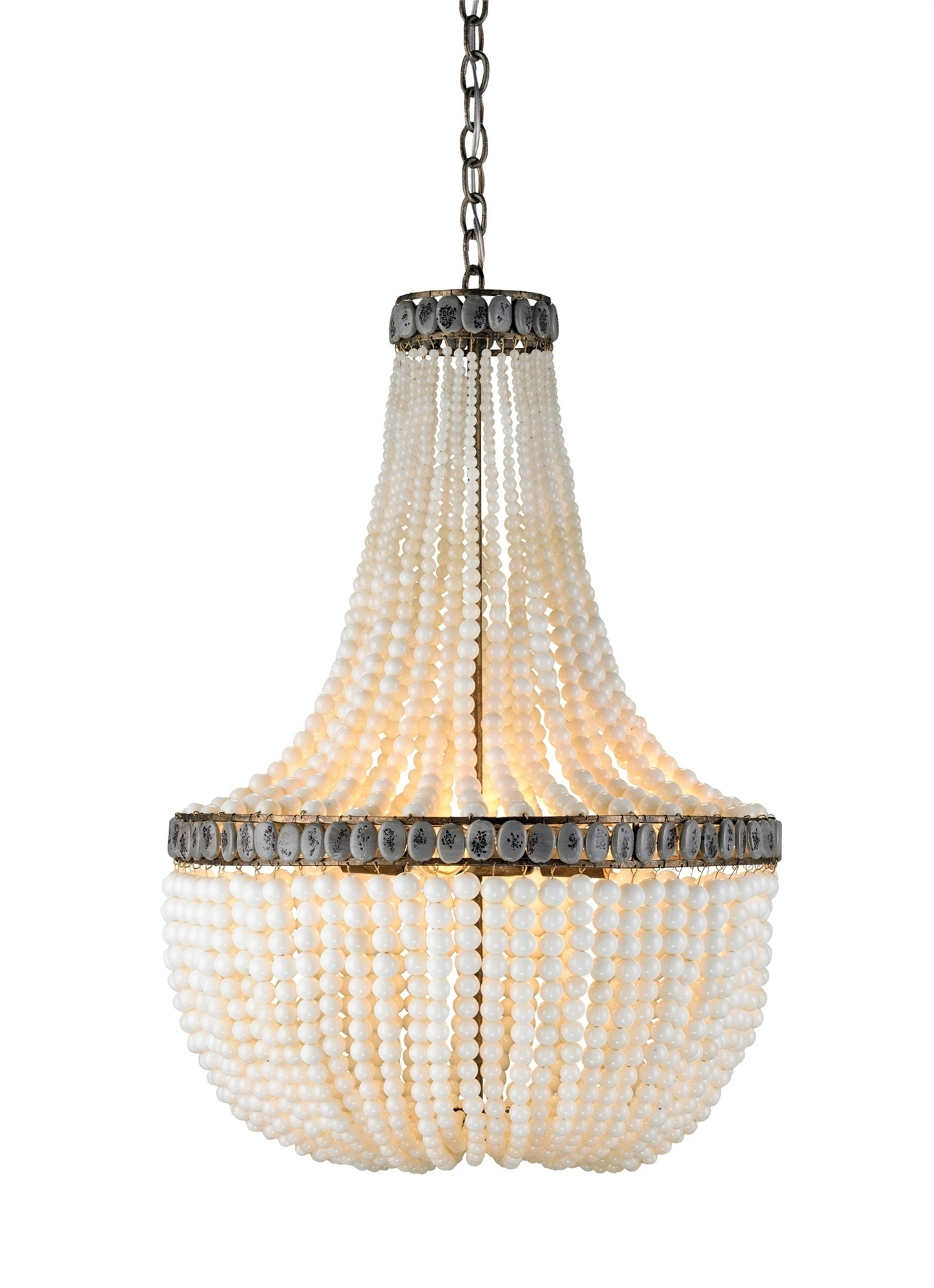 Hedy Chandelier Lighting, Cream (View 9 of 15)