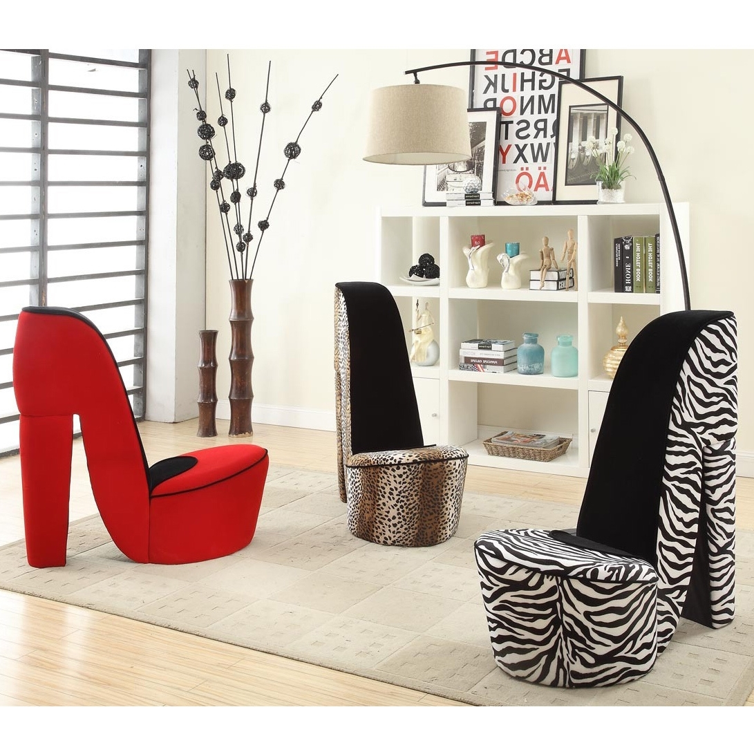 Heel Chair Sofas In Favorite Give Your Space A Bold, Trendy Style With This Cute High Heeled (View 3 of 15)