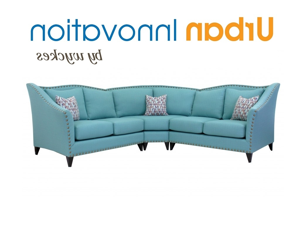 High Back Nailhead Trim Curved Back Sectional Sofa In Recent Sectional Sofas With High Backs (View 8 of 15)