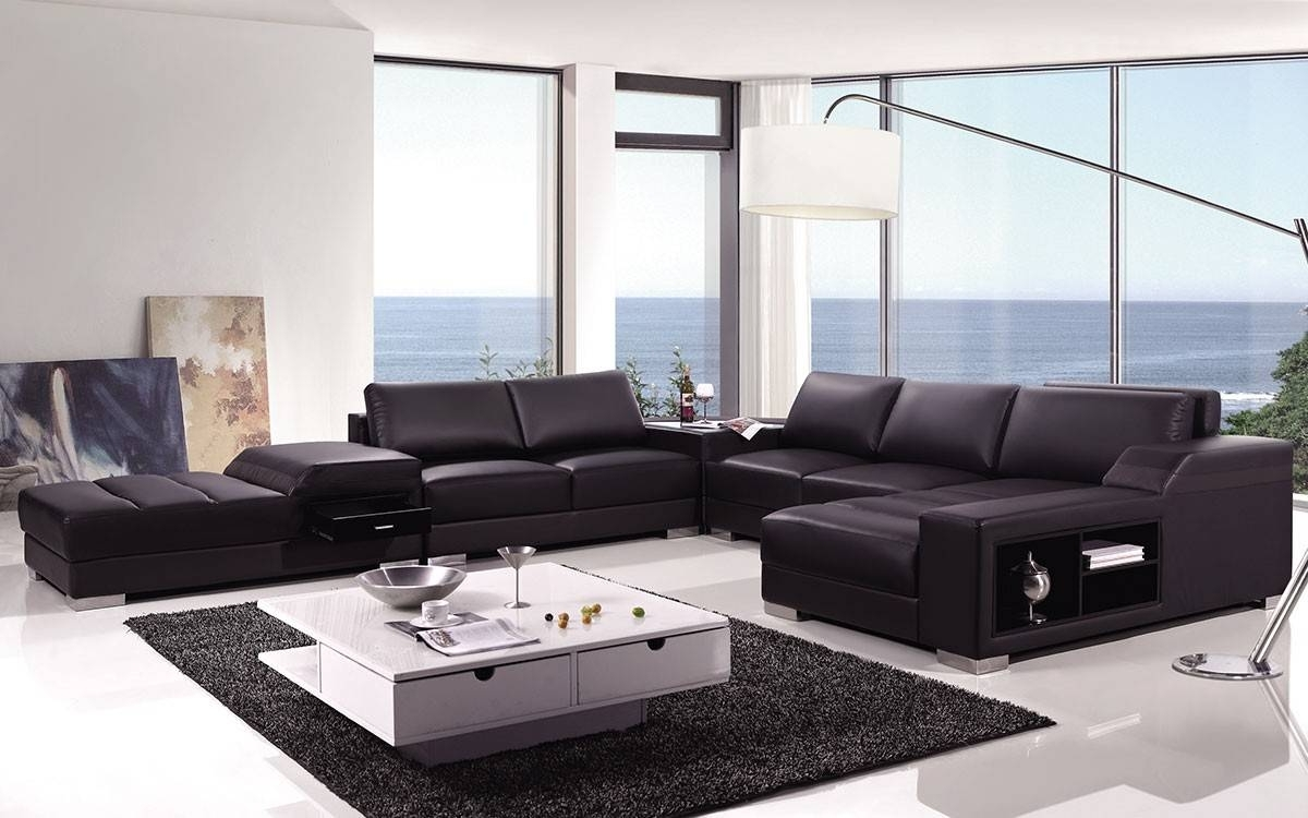 High End Covered In Bonded Leather Sectional Philadelphia For Current High End Sectional Sofas (View 6 of 15)