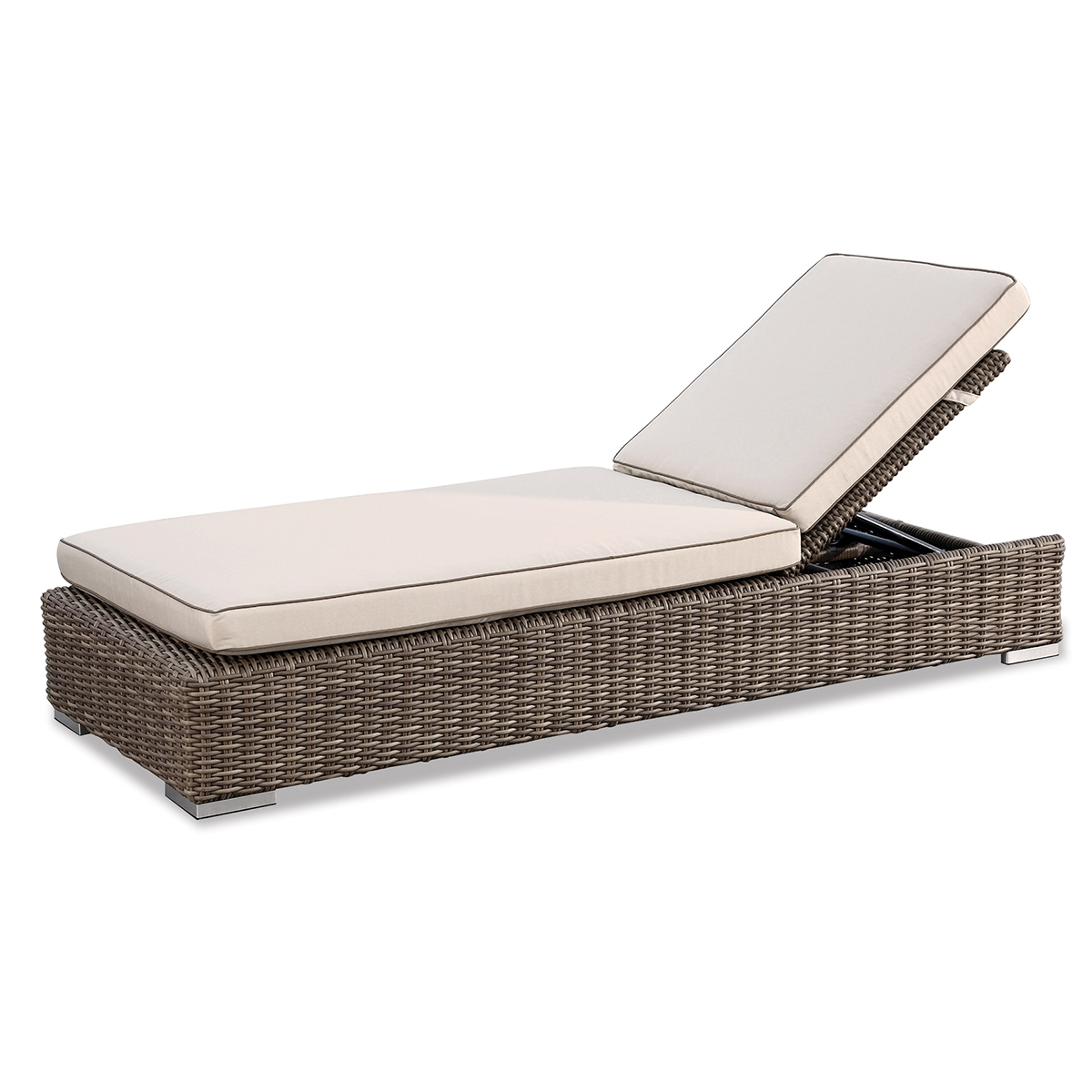 Hmp Chaise Wb Wicker Lounge Sunbrella Fabrics Hampton Collection With 2018 Hampton Bay Chaise Lounges (View 7 of 15)