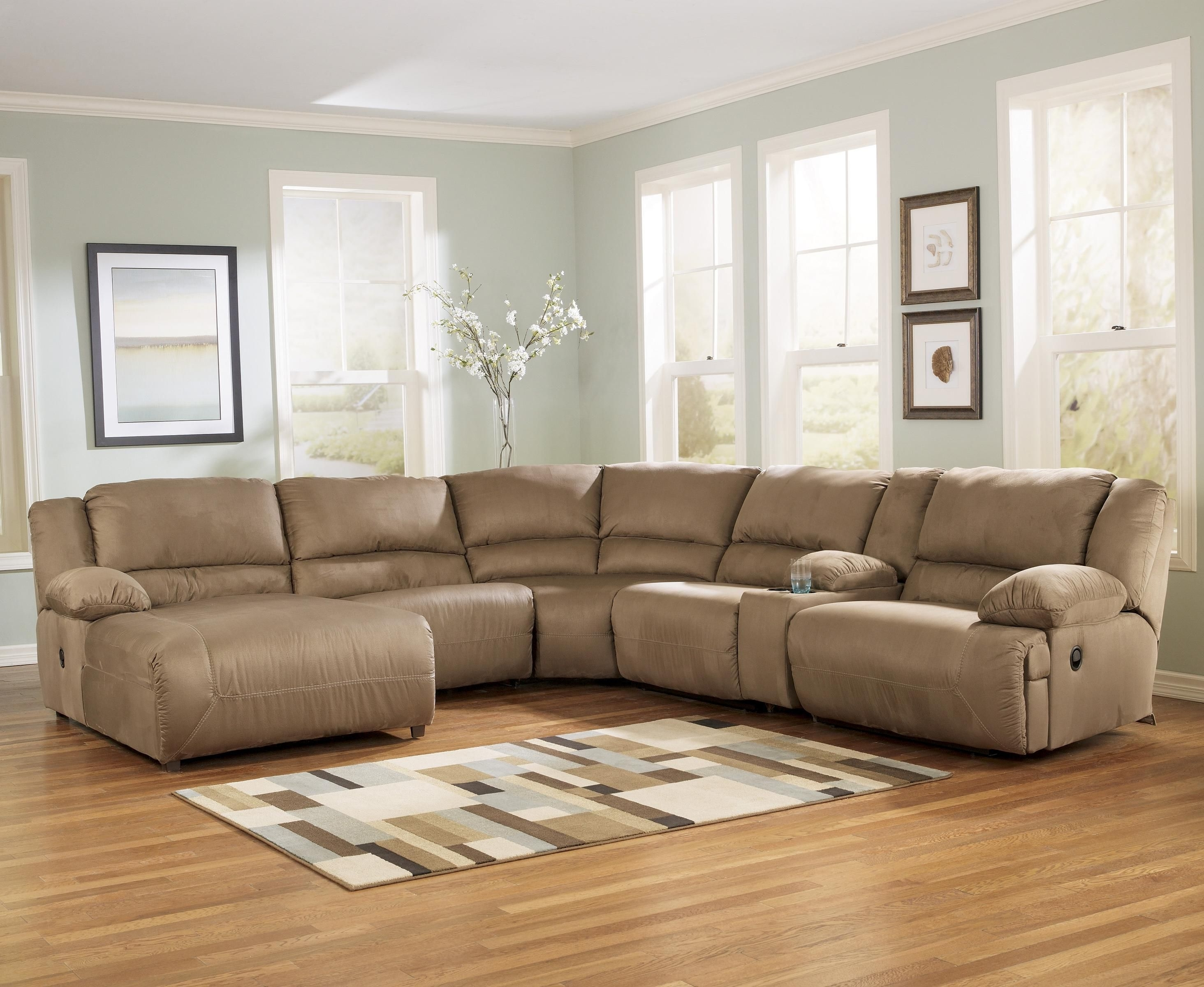 Hogan – Mocha 6 Piece Motion Sectional With Right Chaise And For Most Popular Harrisburg Pa Sectional Sofas (View 4 of 15)