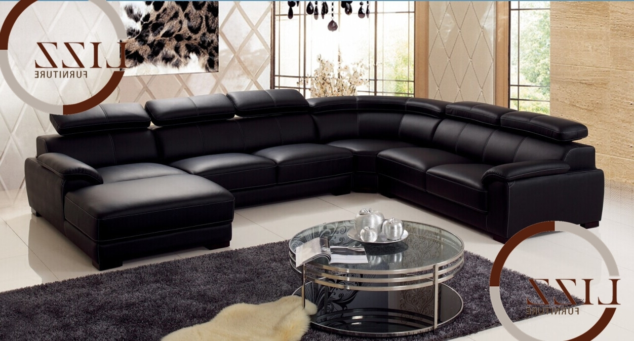Home Decor: Amusing Leather L Shaped Couch Perfect With Amazing For Popular Leather L Shaped Sectional Sofas (View 7 of 15)
