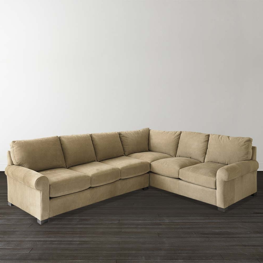 Home Decor: Cozy Leather L Shaped Couch Plus Scarborough Sofa As intended for Latest L Shaped Sectional Sofas