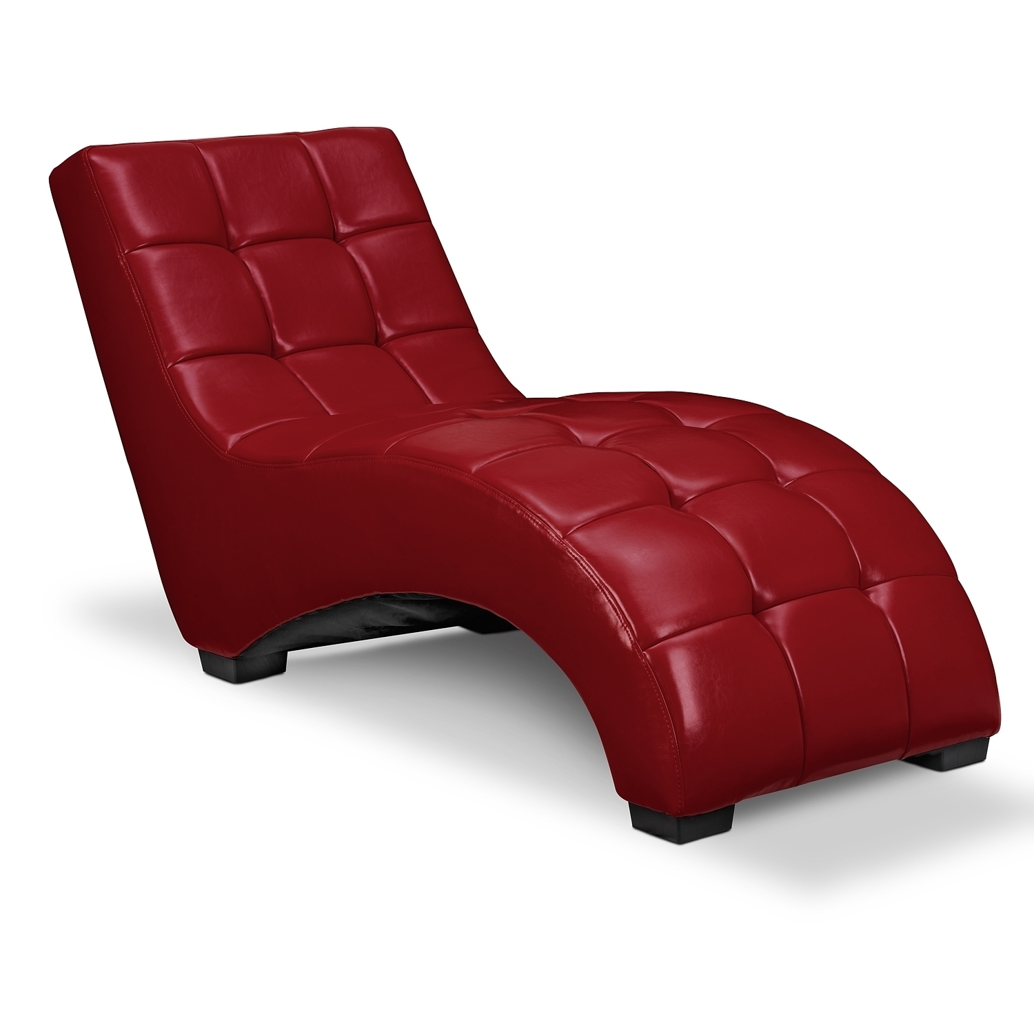 Home Design : Espresso Leather Chaise Lounge Chair With Pillow Top Regarding Most Recent Red Leather Chaises (View 6 of 15)