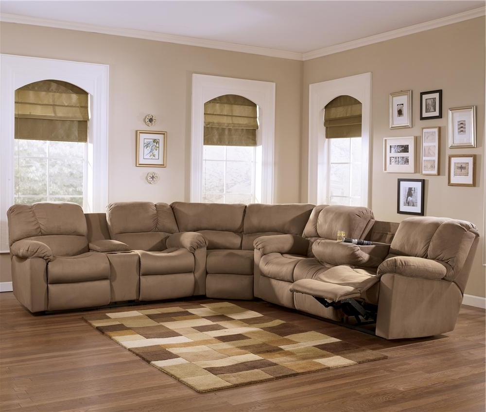 Home Furniture Sectional Sofas For Current Eli – Cocoa Reclining Sectional Sofa Group With Pillow Arms And (View 6 of 15)