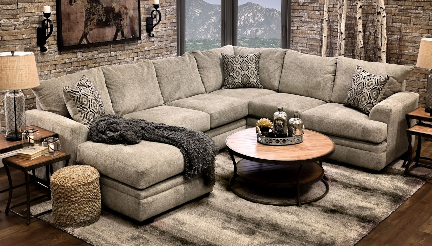 Home Zone Sectional Sofas Regarding Best And Newest Jillian Platinumshot Fabric Sectional Sofa Fantastic Home Zone (View 5 of 15)