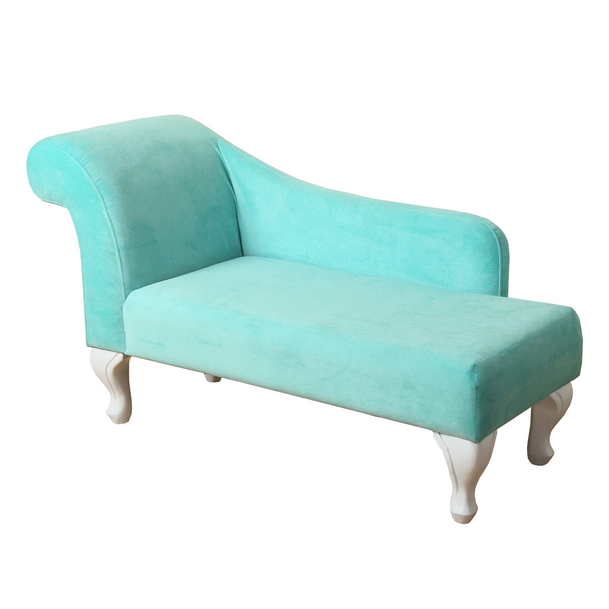 Homepop Juvenile Chaise Lounge In Aqua Turquoise Velvet – Free For Most Recently Released Turquoise Chaise Lounges (View 4 of 15)