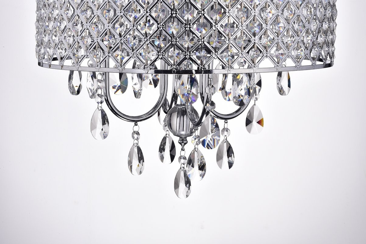 House Of Hampton Clemence 4 Light Crystal Chandelier & Reviews (View 14 of 15)