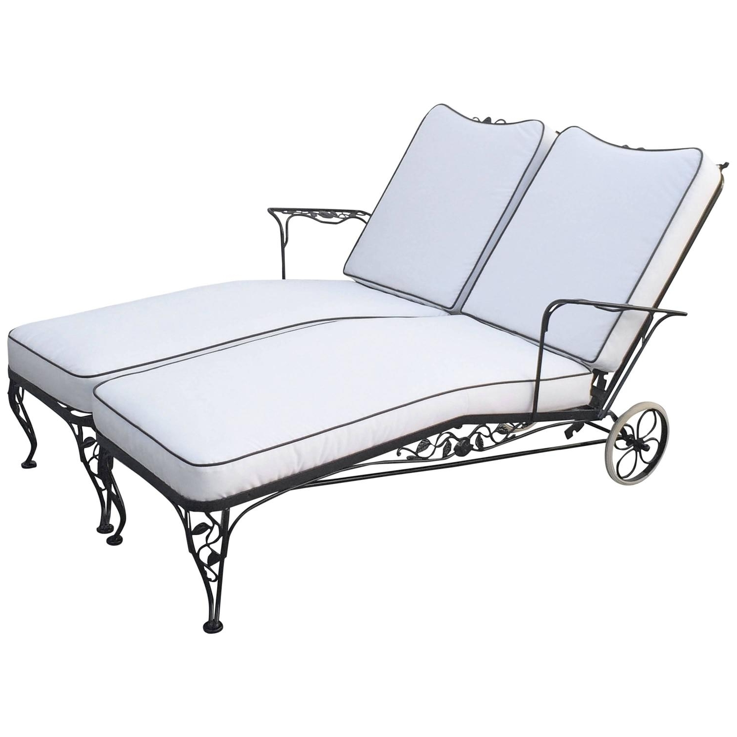 How Sturdy The Awesome Designs Wrought Iron Chaise Lounge Pertaining To Well Known Wrought Iron Chaise Lounges (View 12 of 15)