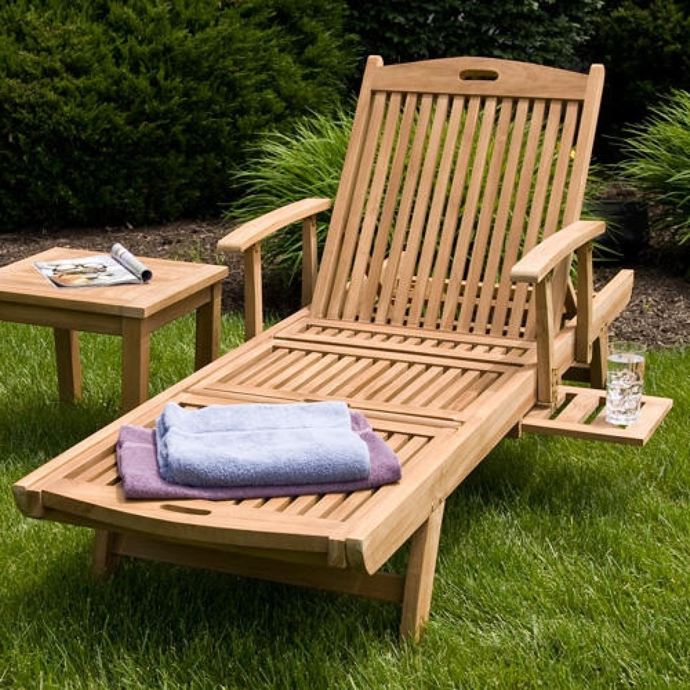 How To Build Chaise Lounge Chairs Outdoor — Bed And Shower With Regard To Most Up To Date Wood Chaise Lounge Chairs (View 7 of 15)