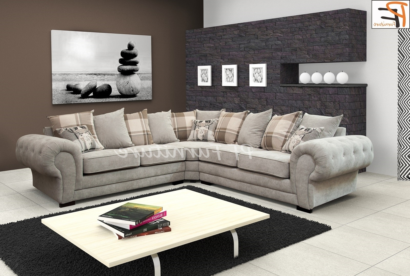 How To Decorate Your Living Room With Fabric Corner Sofa Inside Trendy Fabric Corner Sofas (View 2 of 15)
