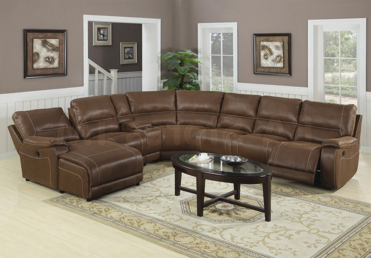 Huge Brown Leather Sectional Sofa With Chaise Lounge And Recliners Regarding Widely Used Sectionals With Chaise Lounge (View 8 of 15)