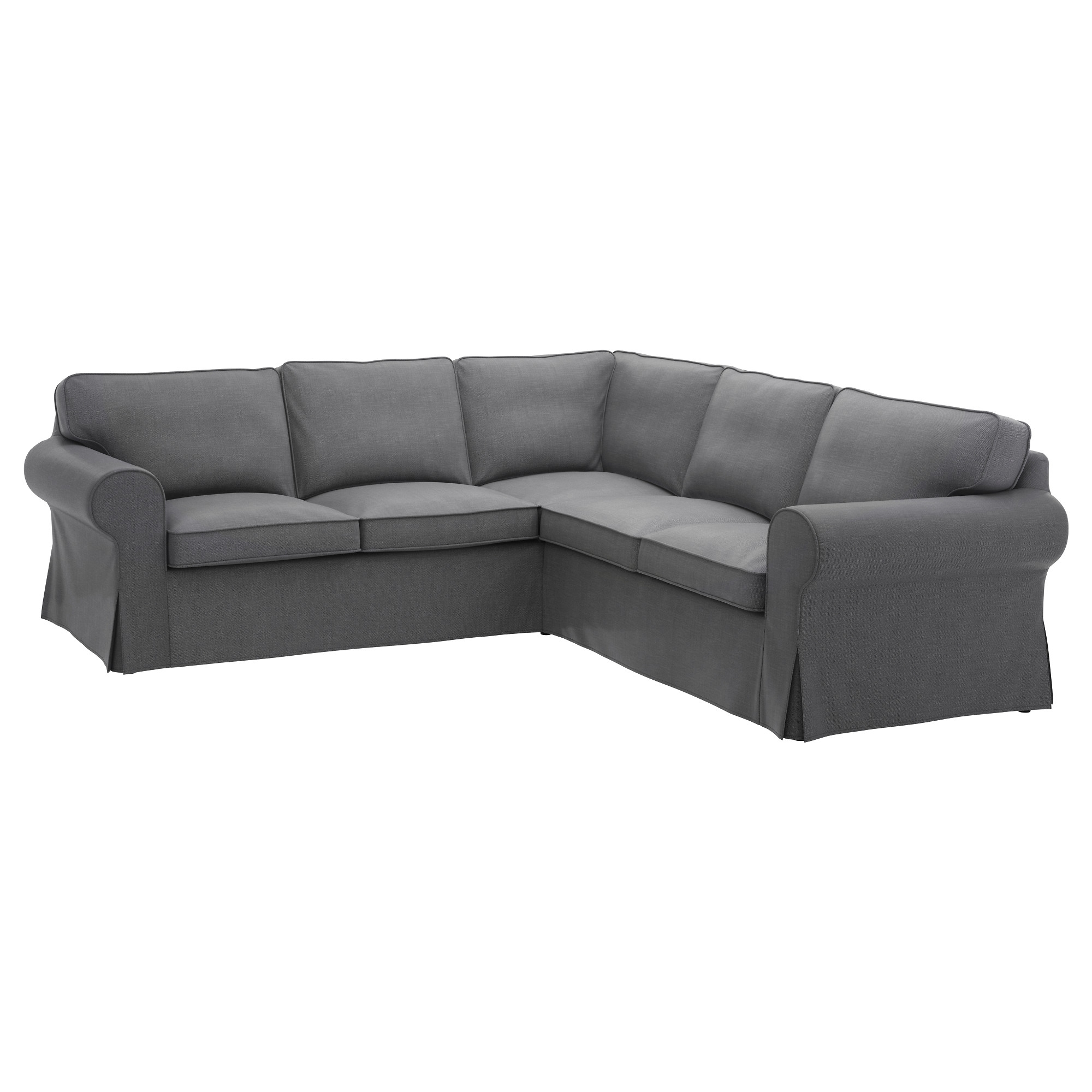 Ikea Chaise Couches Throughout Well Liked Ektorp Sectional, 4 Seat Corner – Nordvalla Dark Gray – Ikea (Gallery 6 of 15)