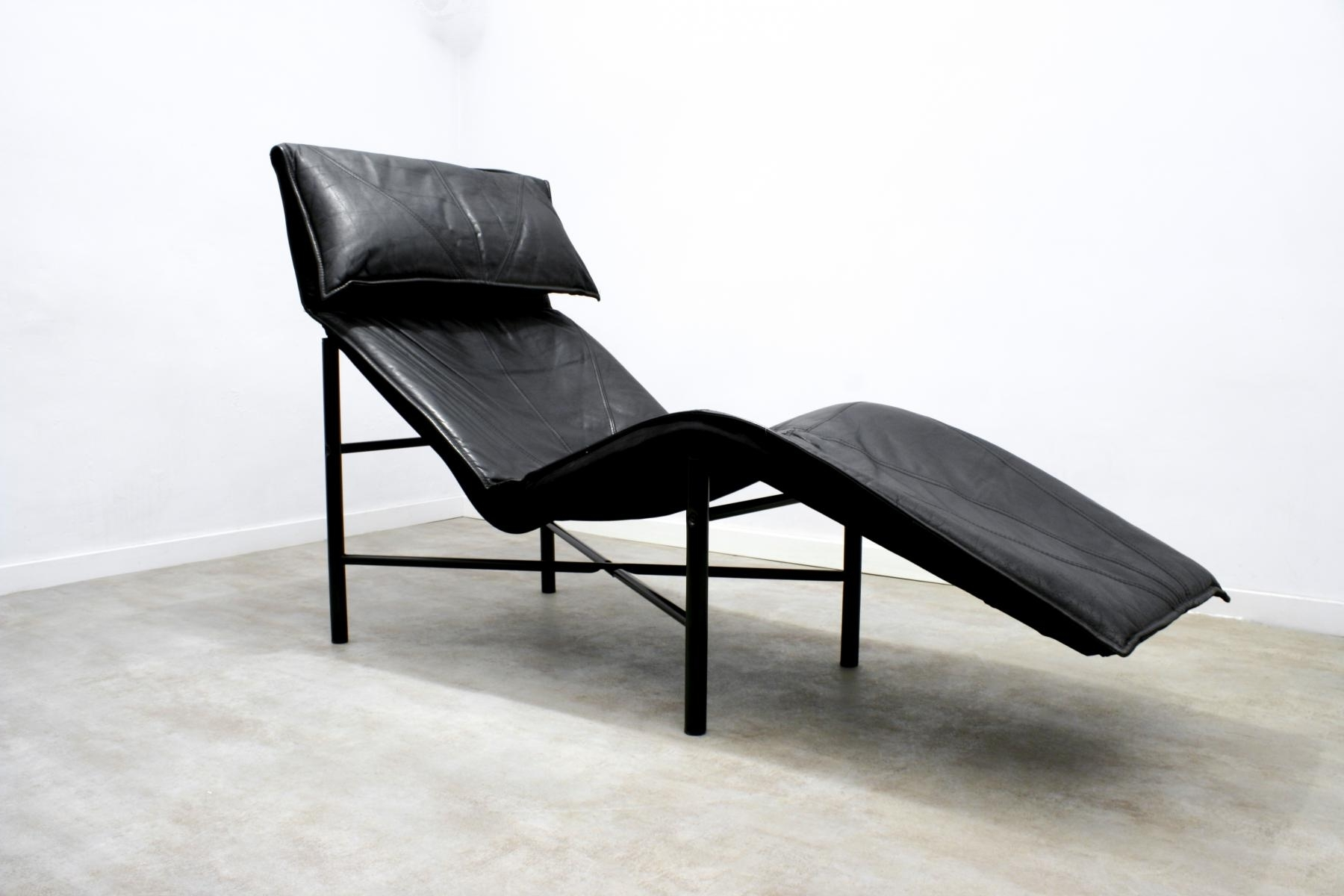 Ikea Chaise Longues With Widely Used Black Leather Skye Chaise Longuetord Björklund For Ikea, 1980S (View 6 of 15)