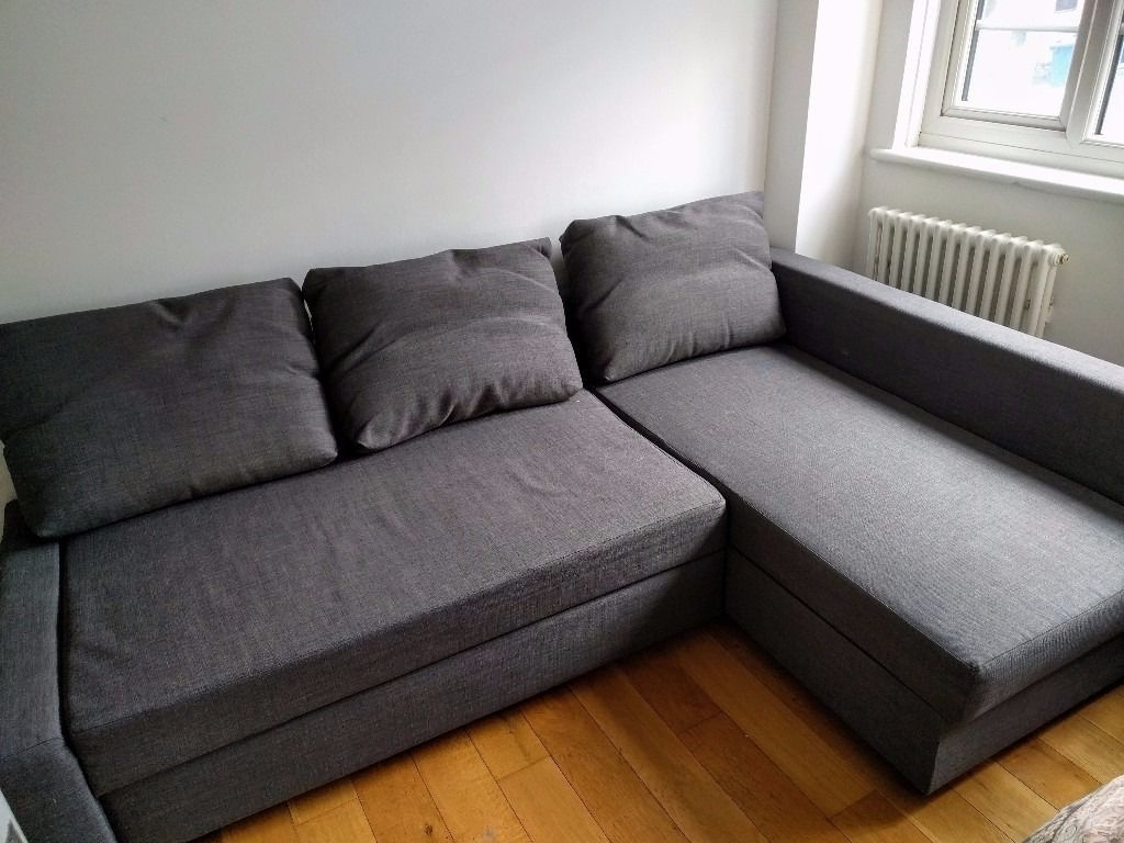 Ikea Corner Sofas With Storage Regarding Trendy Ikea Corner Sofa Bed With Storage (Friheten, Skiftebo Dark Grey (Gallery 10 of 15)