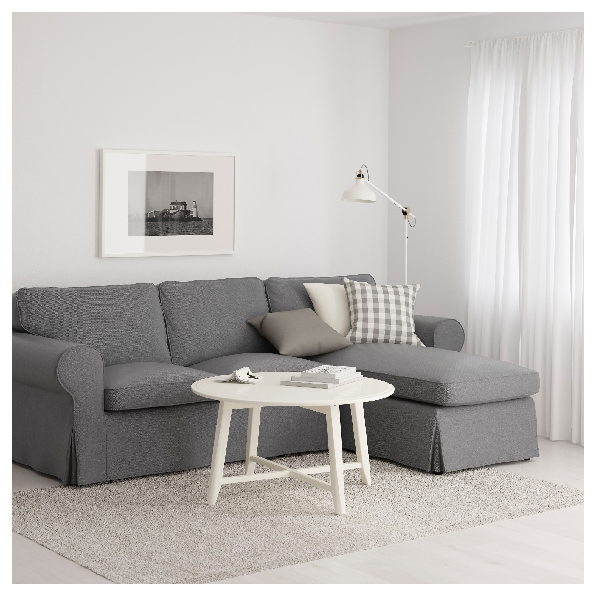 Ikea Ektorp Chaises In Recent Ektorp Sofa – With Chaise/nordvalla Light Blue – Ikea (View 8 of 15)