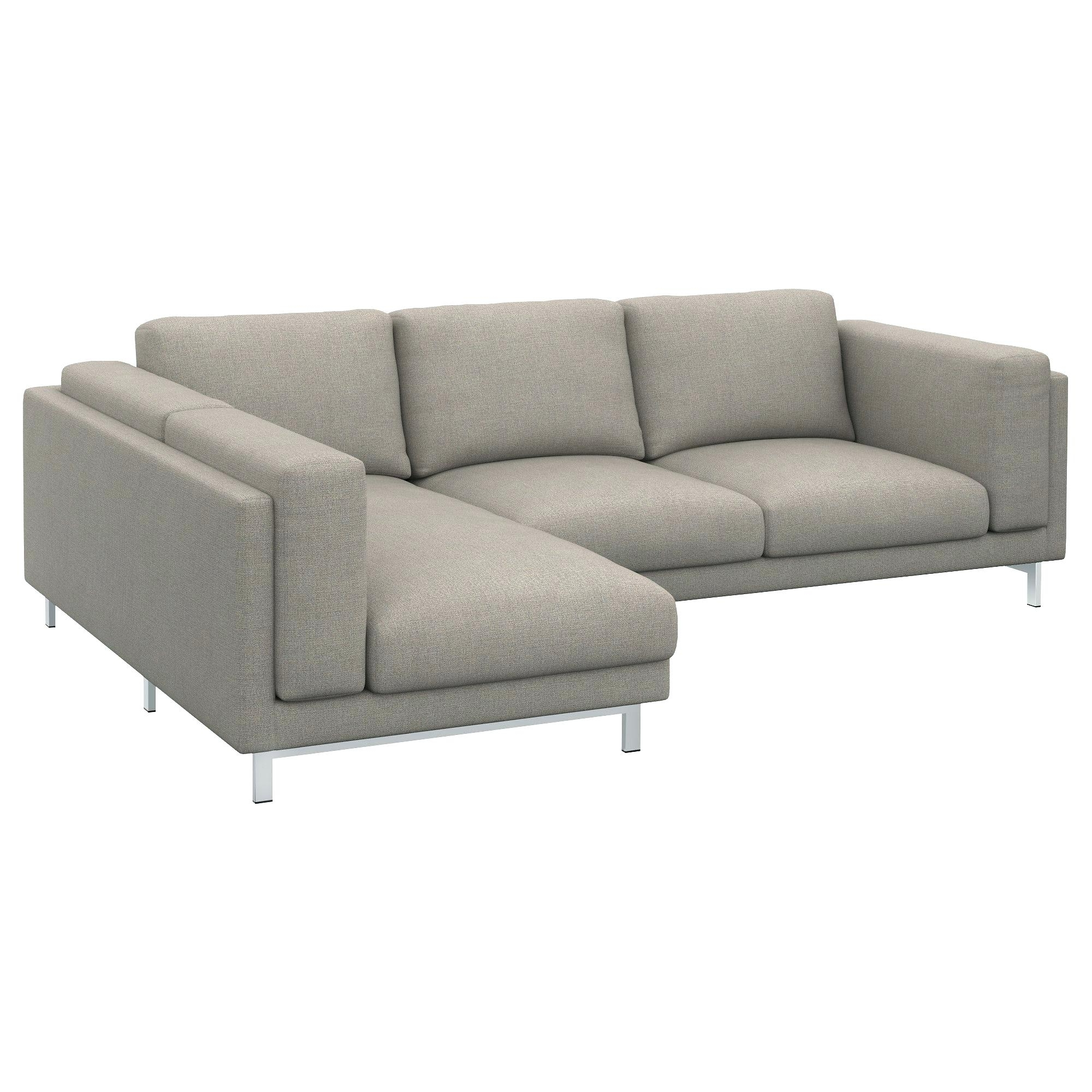 Ikea Karlstad Chaises Pertaining To Well Known Ikea Chaise Nockeby Loveseat With Right Tena Light Gray Chrome (Gallery 13 of 15)