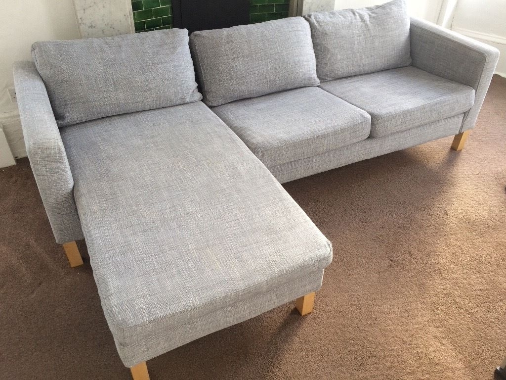Ikea Karlstad Isunda Grey Sofa, Chaise And Footstool (View 6 of 15)