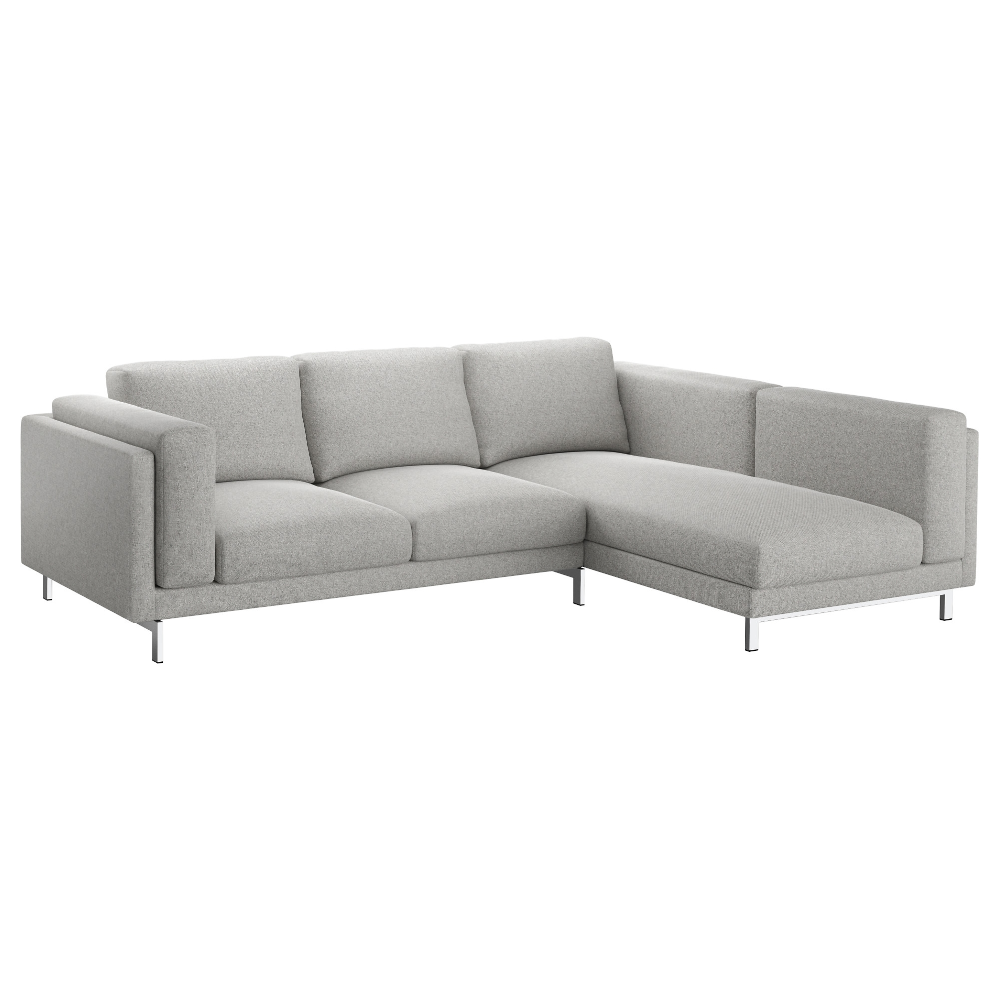 Ikea Sectional Sofa Beds With Regard To Popular Nockeby Sofa – With Chaise, Left/tallmyra White/black, Chrome (View 9 of 15)