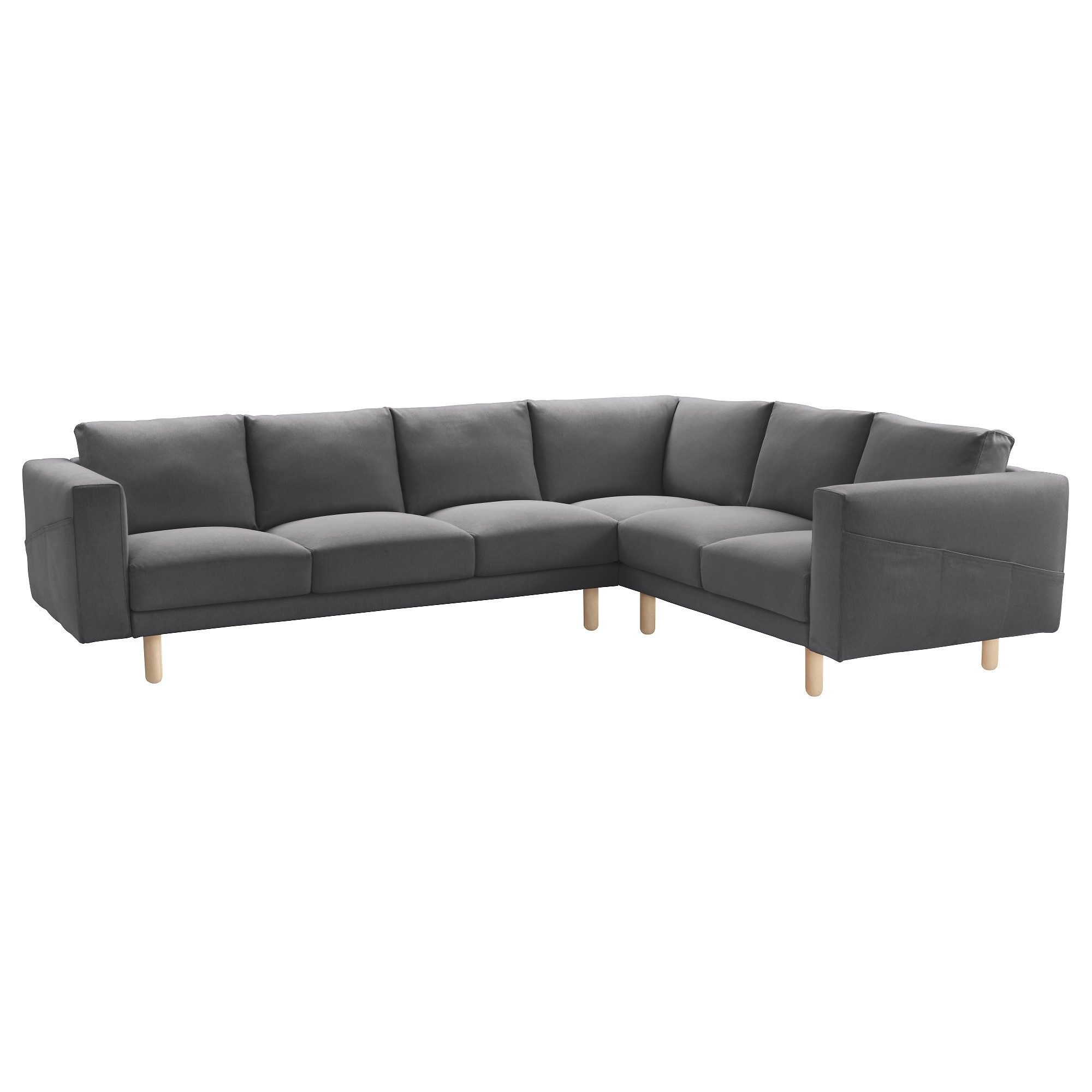Ikea Small Sofas Pertaining To Current Norsborg Sectional, 5 Seat Corner – Finnsta Dark Gray, Birch – Ikea (Gallery 15 of 15)