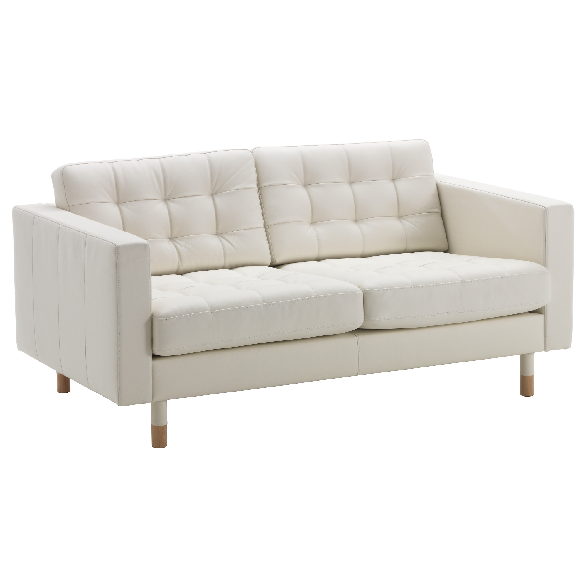 Ikea Small Sofas With Well Known Landskrona Loveseat – Grann/bomstad White, Wood – Ikea (View 10 of 15)