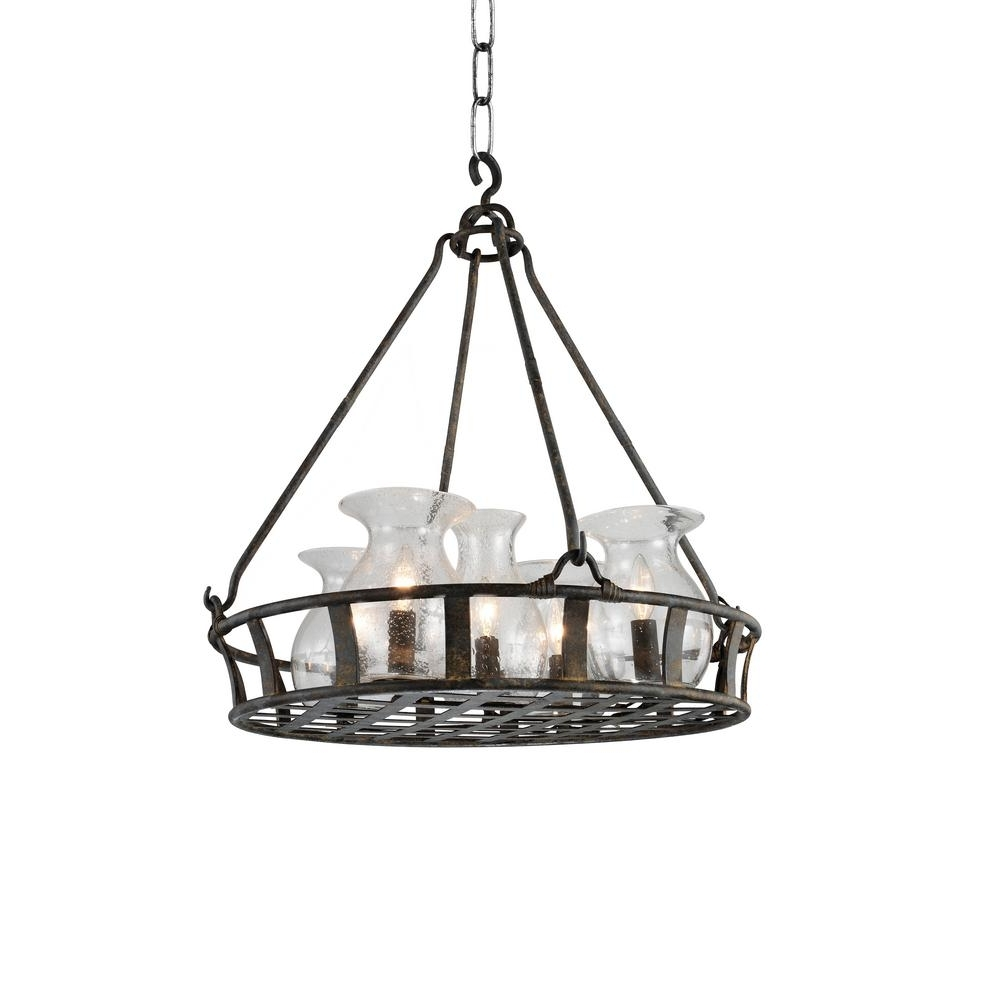 Imperial 6 Light Antique Black Chandelier 9925P32 6 216 – The Home Depot Throughout Well Known Antique Black Chandelier (View 6 of 15)