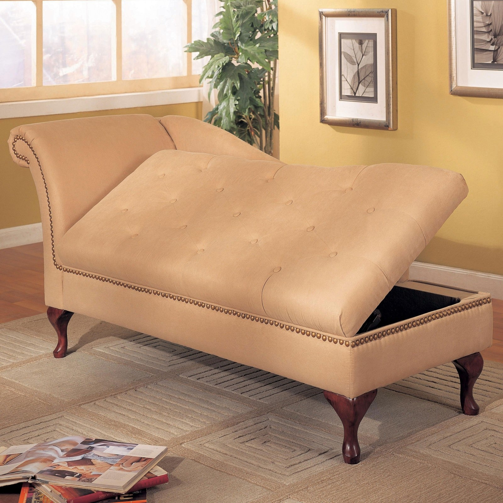 Indoor Chaise › Indoor Chaise Lounge With Storage Chaise Lounges Pertaining To Most Current Beige Chaise Lounges (View 10 of 15)