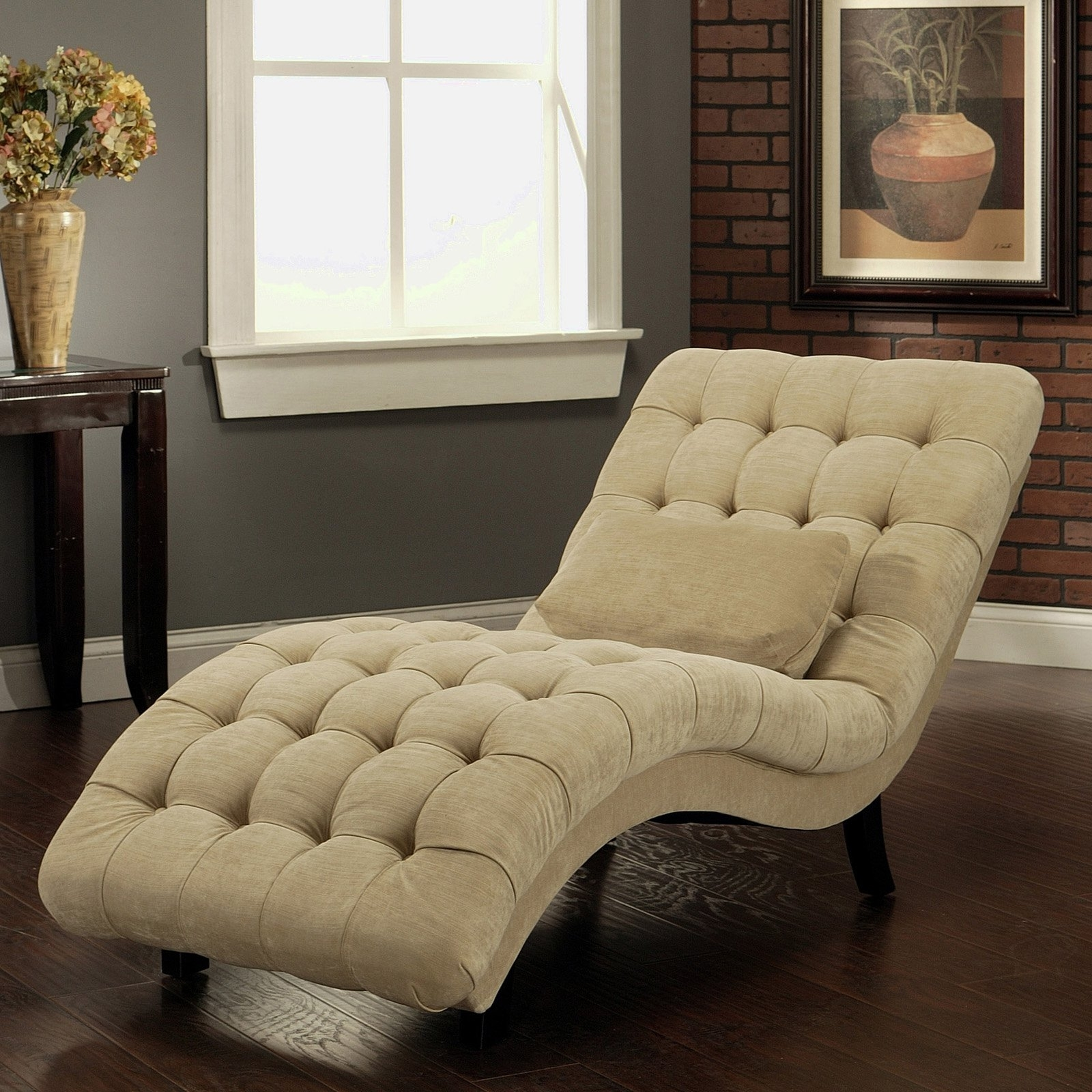 Indoor Chaise Lounges Intended For Well Liked Awesome Indoor Chaise Lounge (Gallery 4 of 15)