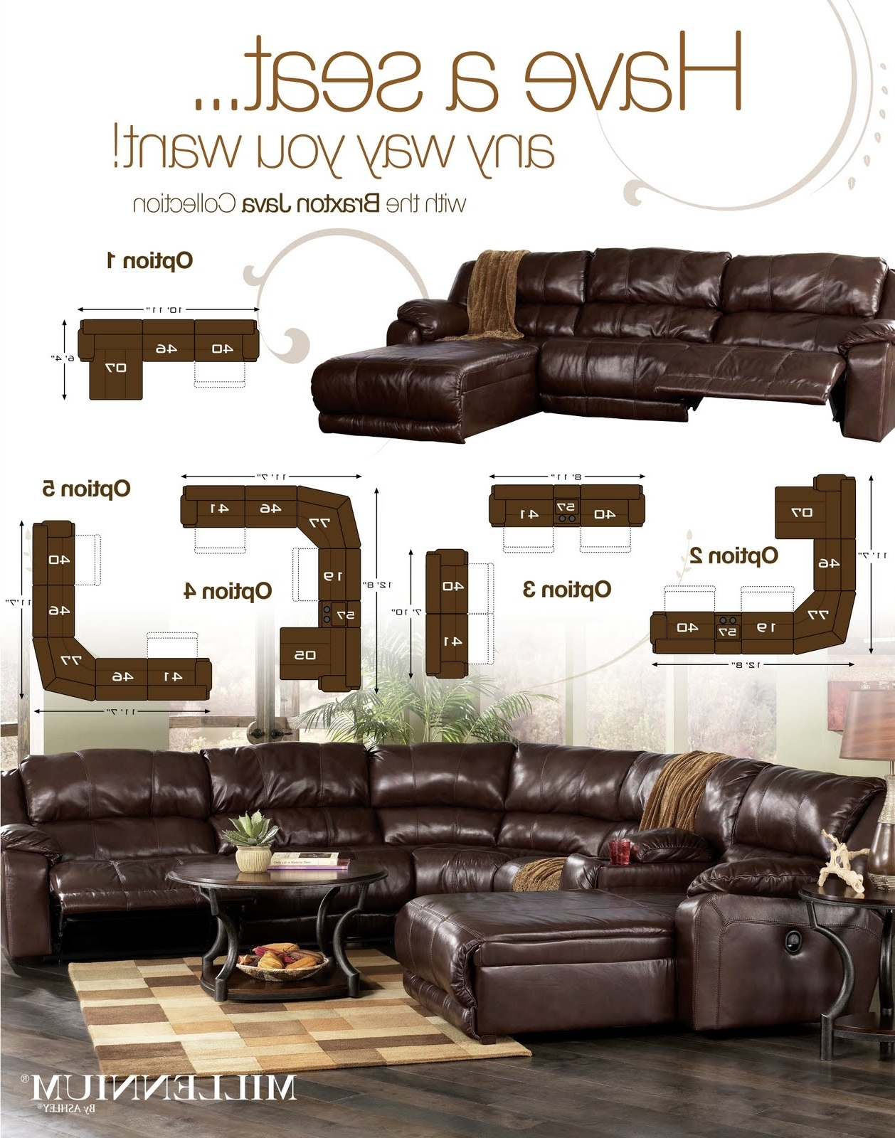 intended for Braxton Sectional Sofas