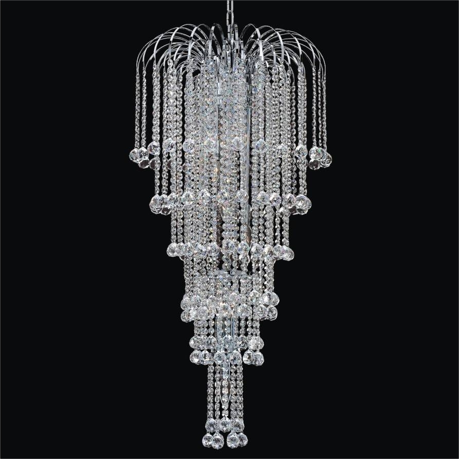 intended for Crystal Waterfall Chandelier