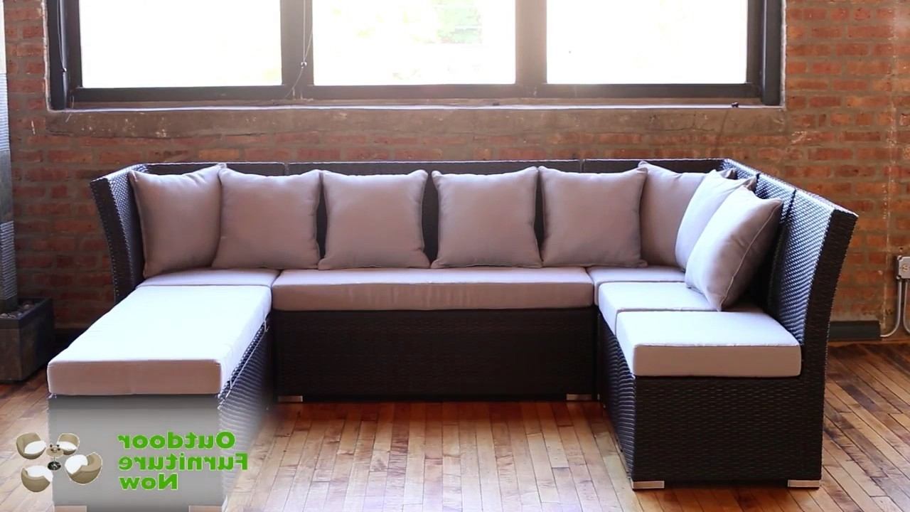 Jamaica Sectional Sofas With Widely Used Jamaican Multipurpose Sectional Dining And Sofa Set Wicker Patio (View 5 of 15)