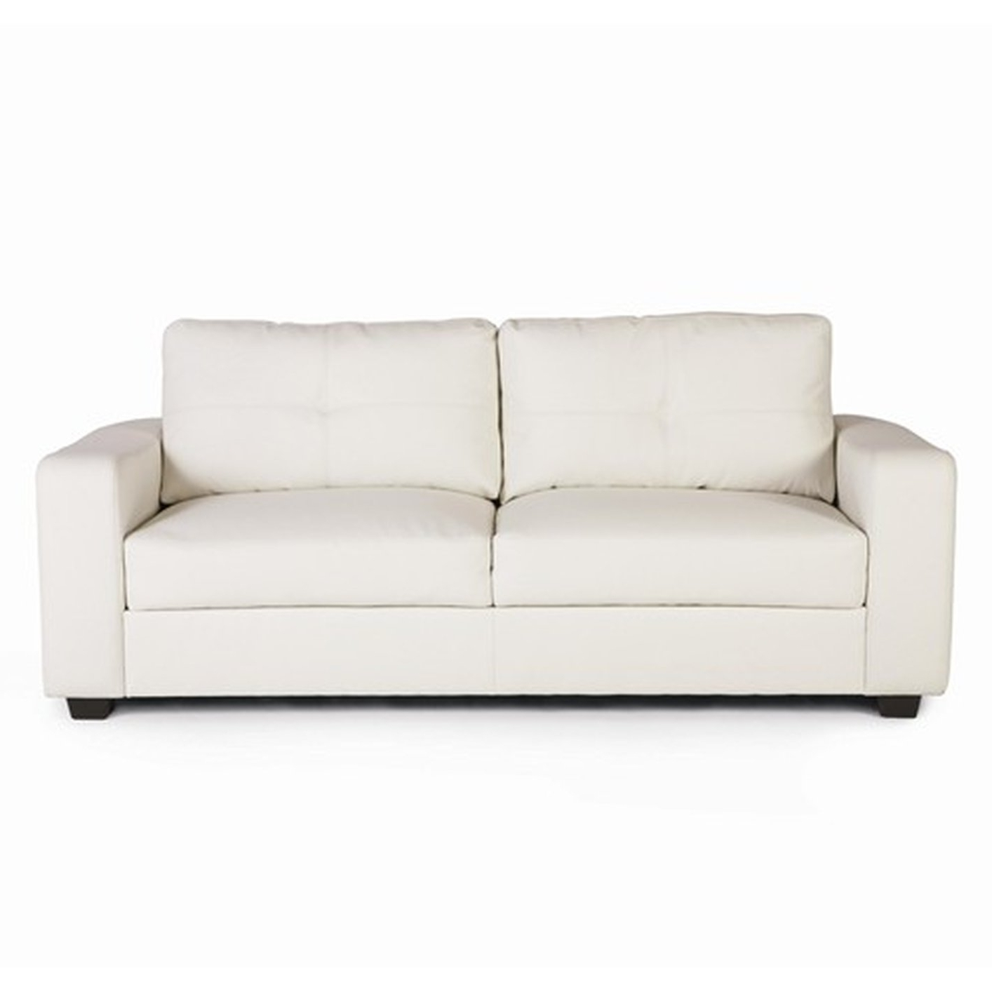 Jasmine White Leather Sofa – Steal A Sofa Furniture Outlet Los For Trendy White Sofa Chairs (View 15 of 15)