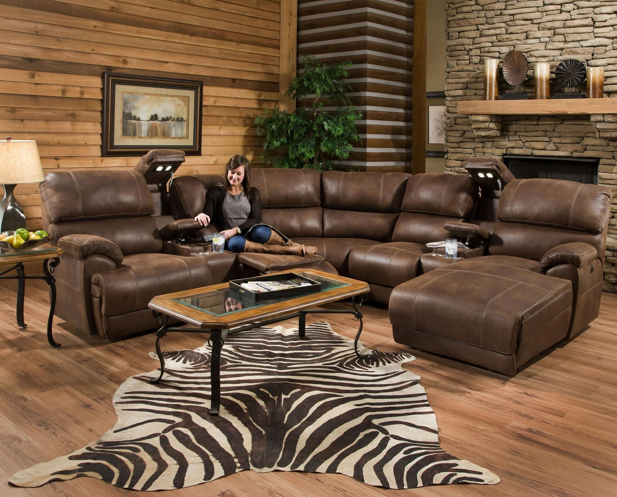 Jedd Fabric Reclining Sectional Sofas Pertaining To Well Known Empire Reclining Sectional Sofa With Massagefranklin (View 14 of 15)