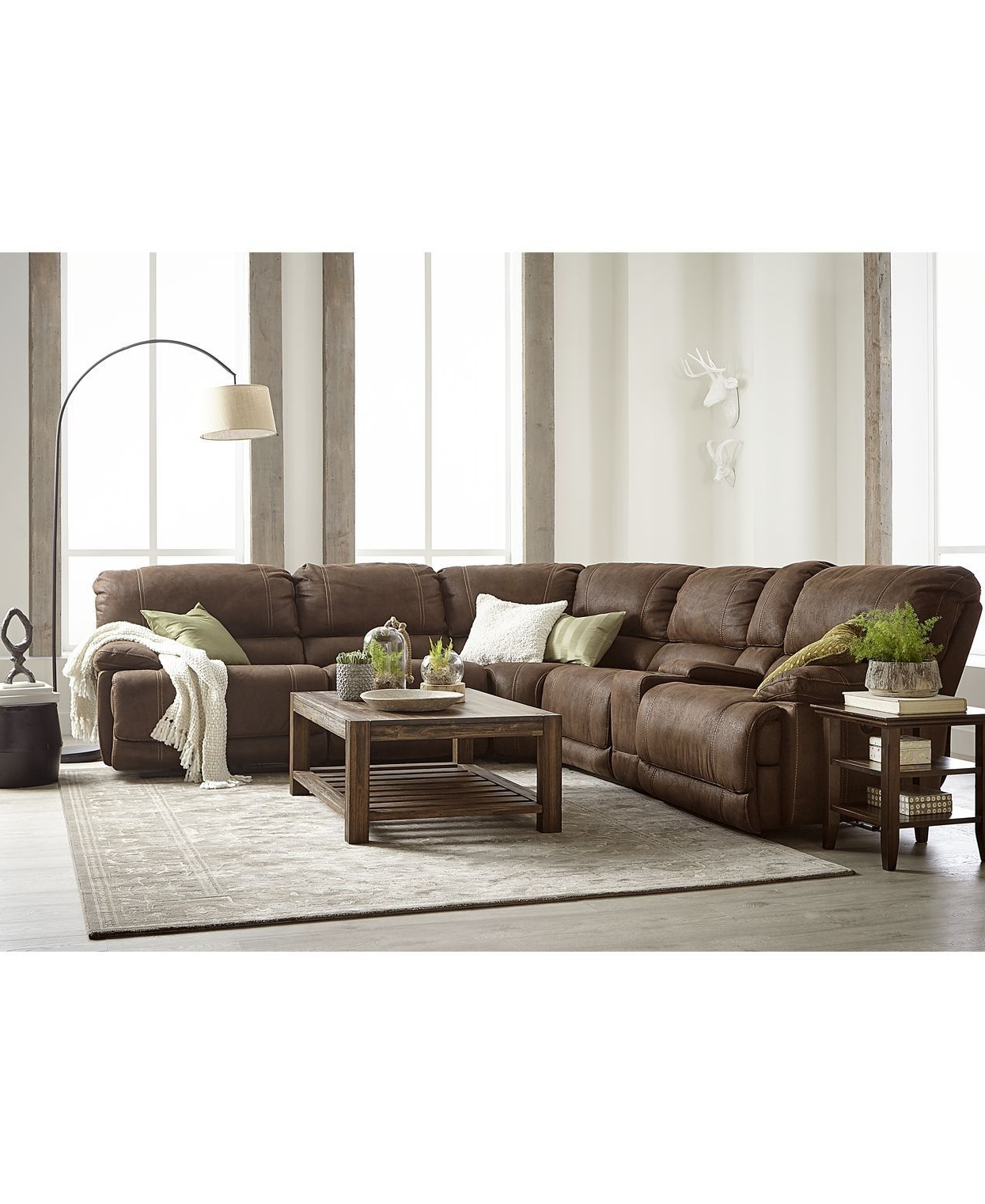Jedd Fabric Reclining Sectional Sofas throughout Best and Newest Ultra Modern And Generously Sized, The Goliath Arc Floor Lamp