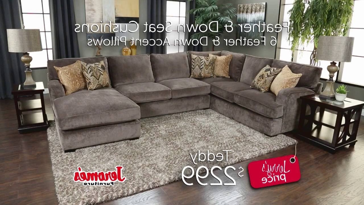 Jerome's Furniture – Teddy Sectional – Youtube With Widely Used Jerome's Sectional Sofas (Gallery 1 of 15)