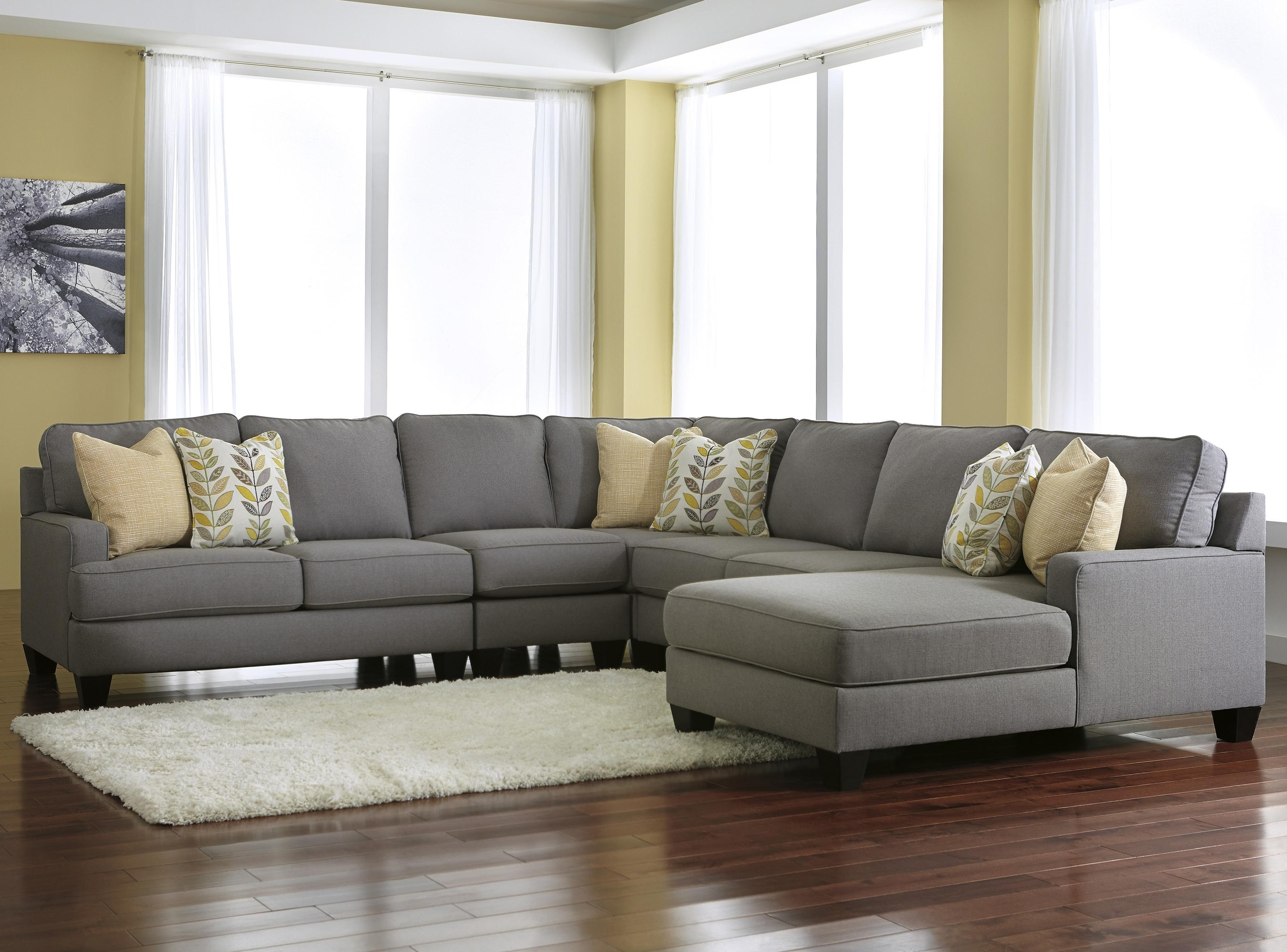 Johnny Janosik Sectional Sofas With Regard To Trendy Signature Designashley Chamberly – Alloy Modern 5 Piece (Gallery 7 of 15)