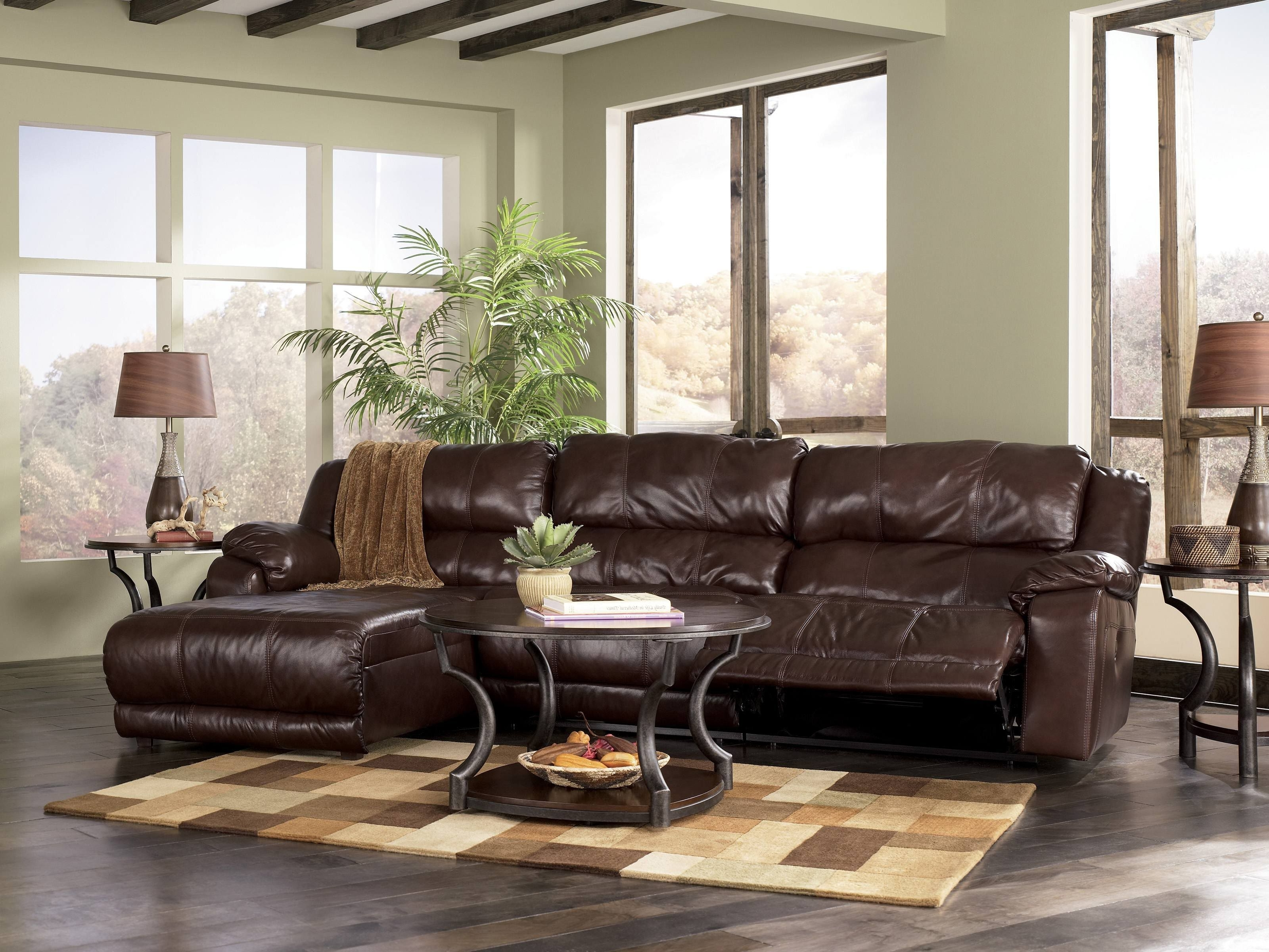 Johnson Leather Sofa With (View 11 of 15)