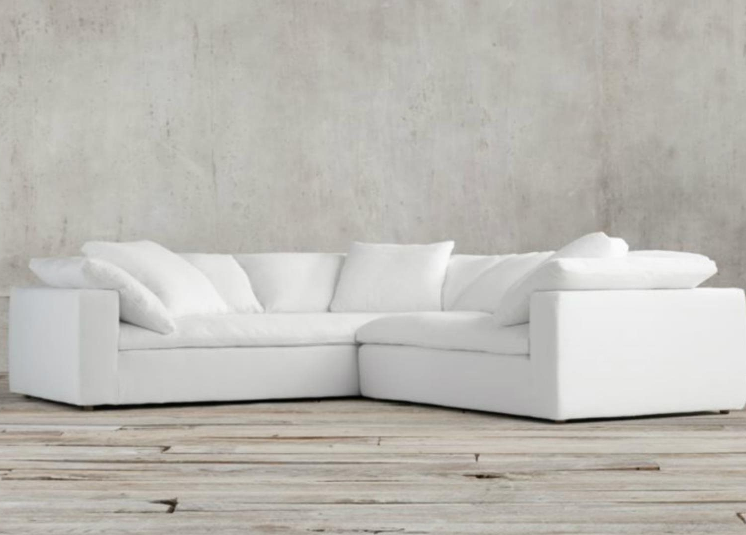 Joining Hardware Sectional Sofas Pertaining To Latest Restoration Hardware Cloud Modular Slipcovered Sofa: For Sale In (View 8 of 15)