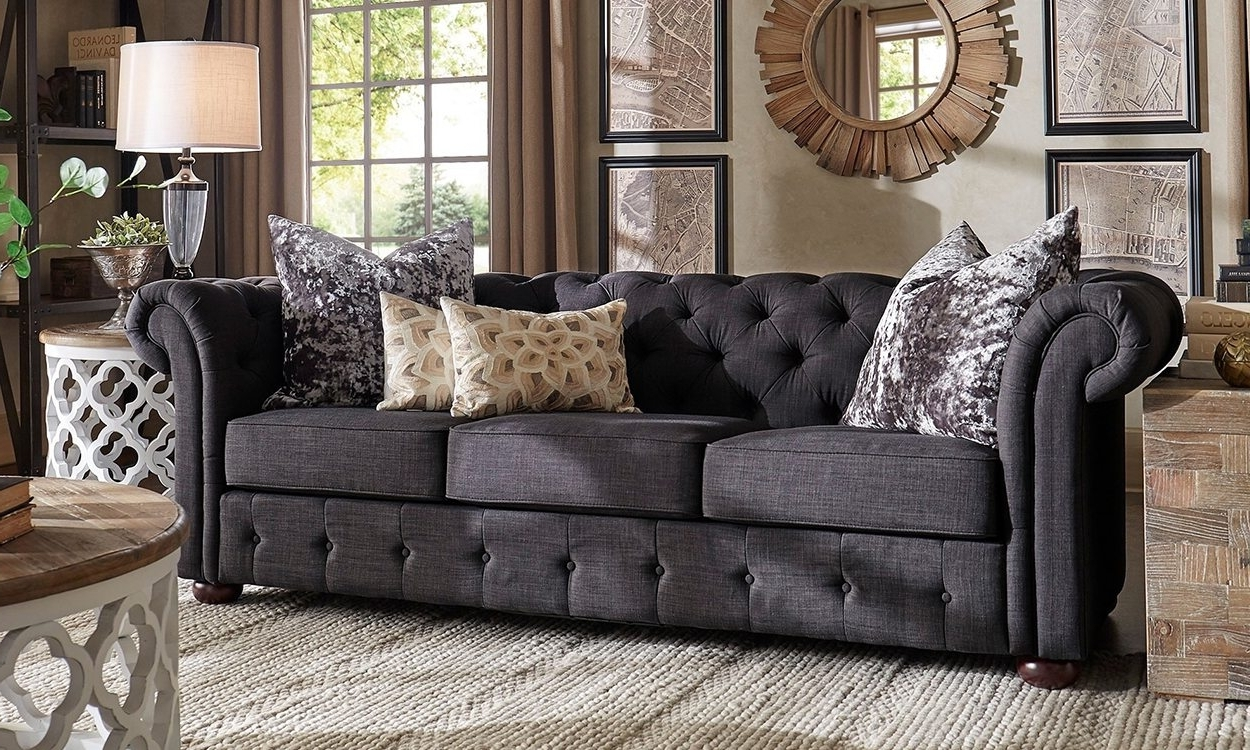 Joplin Mo Sectional Sofas Pertaining To Most Recently Released Furniture : Sofa With Chaise Leather Grey Sofa In Family Room (Gallery 3 of 15)