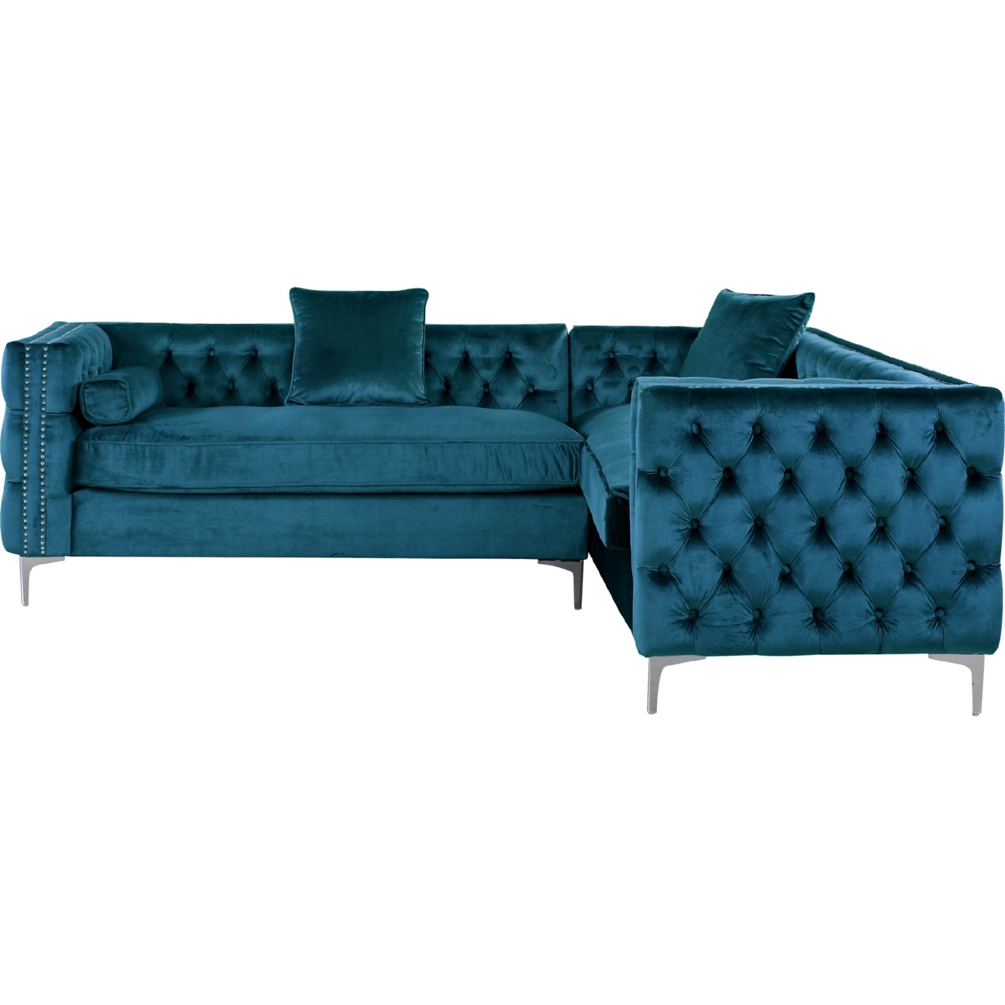 Jordans Sectional Sofas With Best And Newest Chic Home Mozart Left Sectional Sofa W/ Right Hand Chaise In (View 14 of 15)