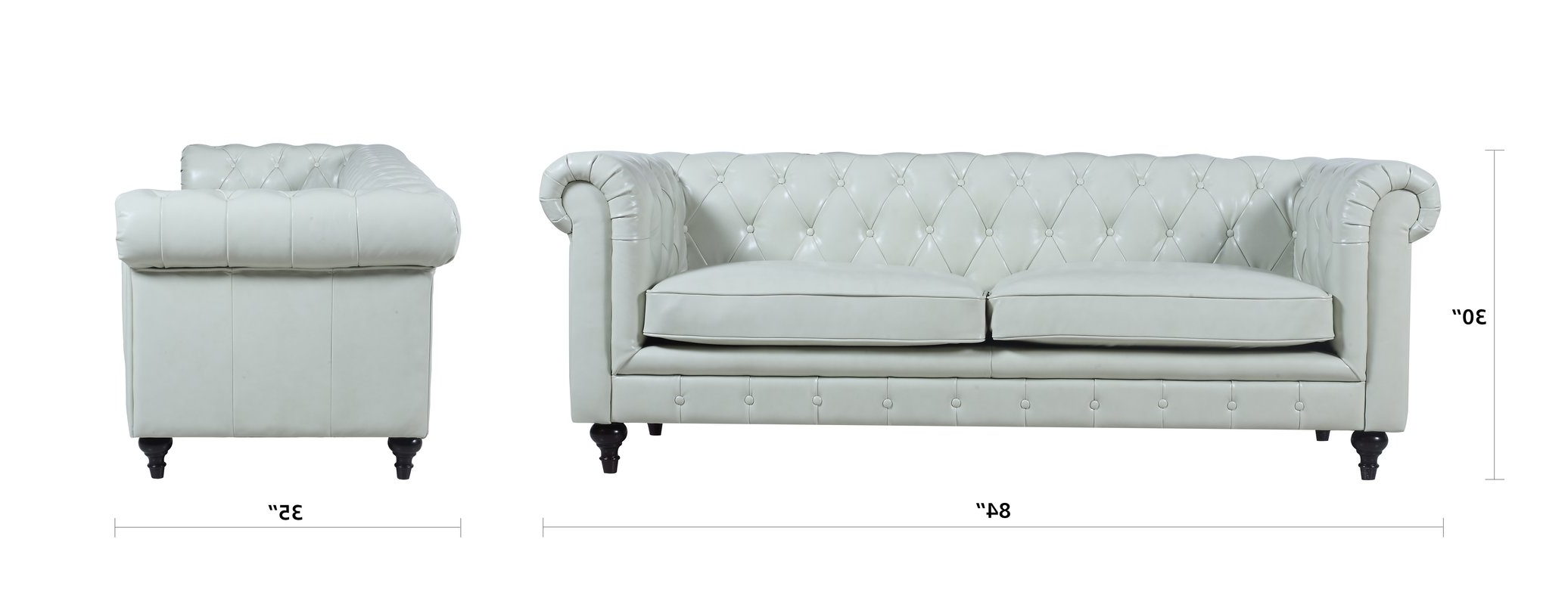 Joss & Main Throughout Tufted Leather Chesterfield Sofas (View 12 of 15)
